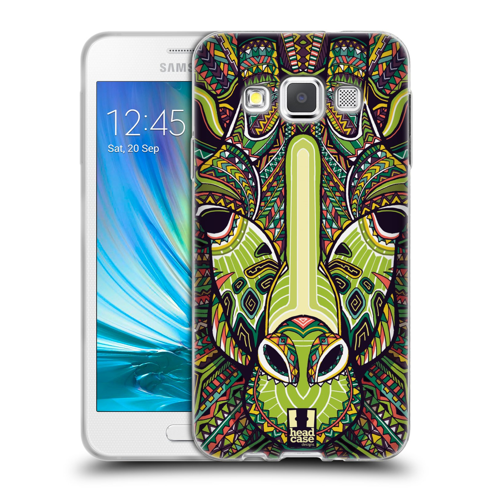 Silikonové pouzdro na mobil Samsung Galaxy A3 HEAD CASE AZTEC ŽIRAFA (Silikonový kryt či obal na mobilní telefon Samsung Galaxy A3 SM-A300)