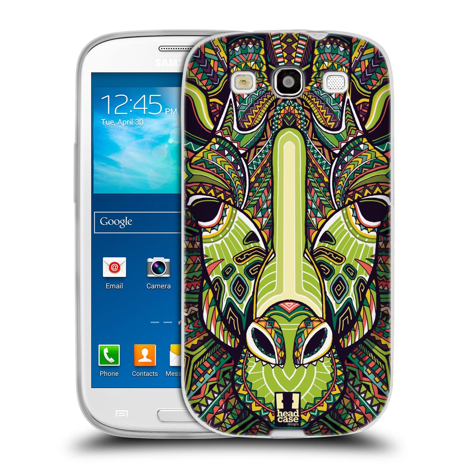 Silikonové pouzdro na mobil Samsung Galaxy S3 Neo HEAD CASE AZTEC ŽIRAFA (Silikonový kryt či obal na mobilní telefon Samsung Galaxy S3 Neo GT-i9301i)