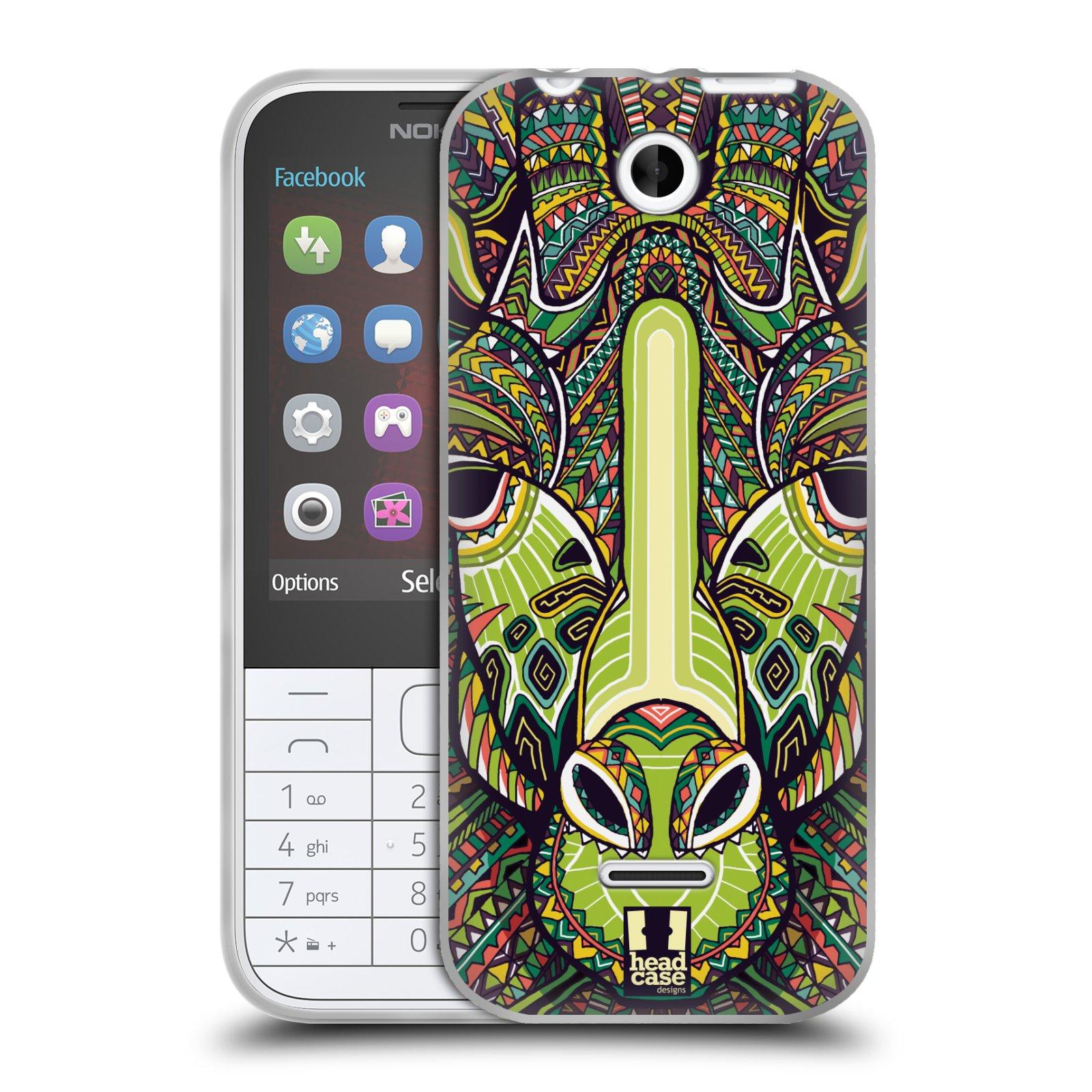 Silikonové pouzdro na mobil Nokia 225 HEAD CASE AZTEC ŽIRAFA (Silikonový kryt či obal na mobilní telefon Nokia 225)
