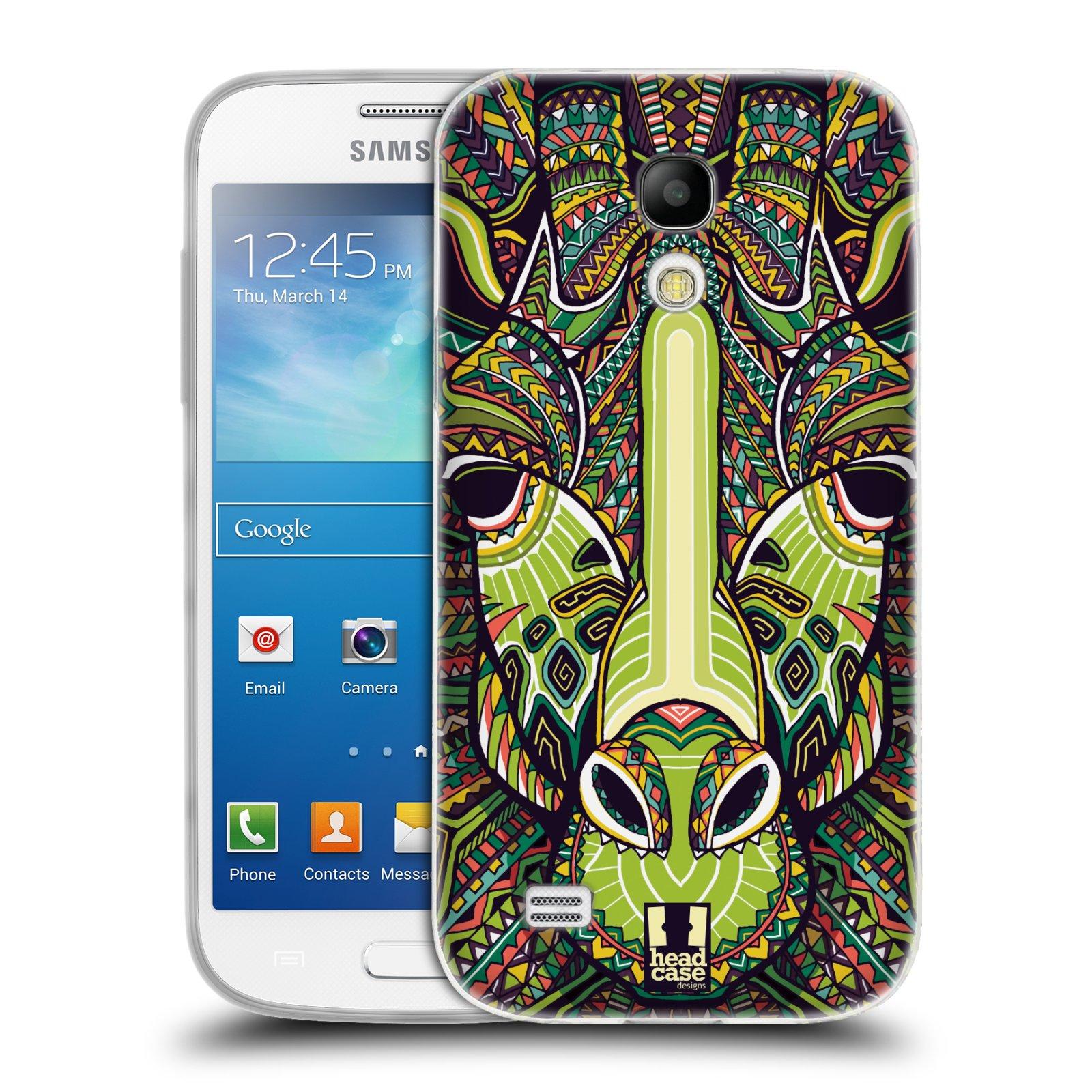 Silikonové pouzdro na mobil Samsung Galaxy S4 Mini HEAD CASE AZTEC ŽIRAFA (Silikonový kryt či obal na mobilní telefon Samsung Galaxy S4 Mini GT-i9195 / i9190 (nepasuje na verzi Black Edition))