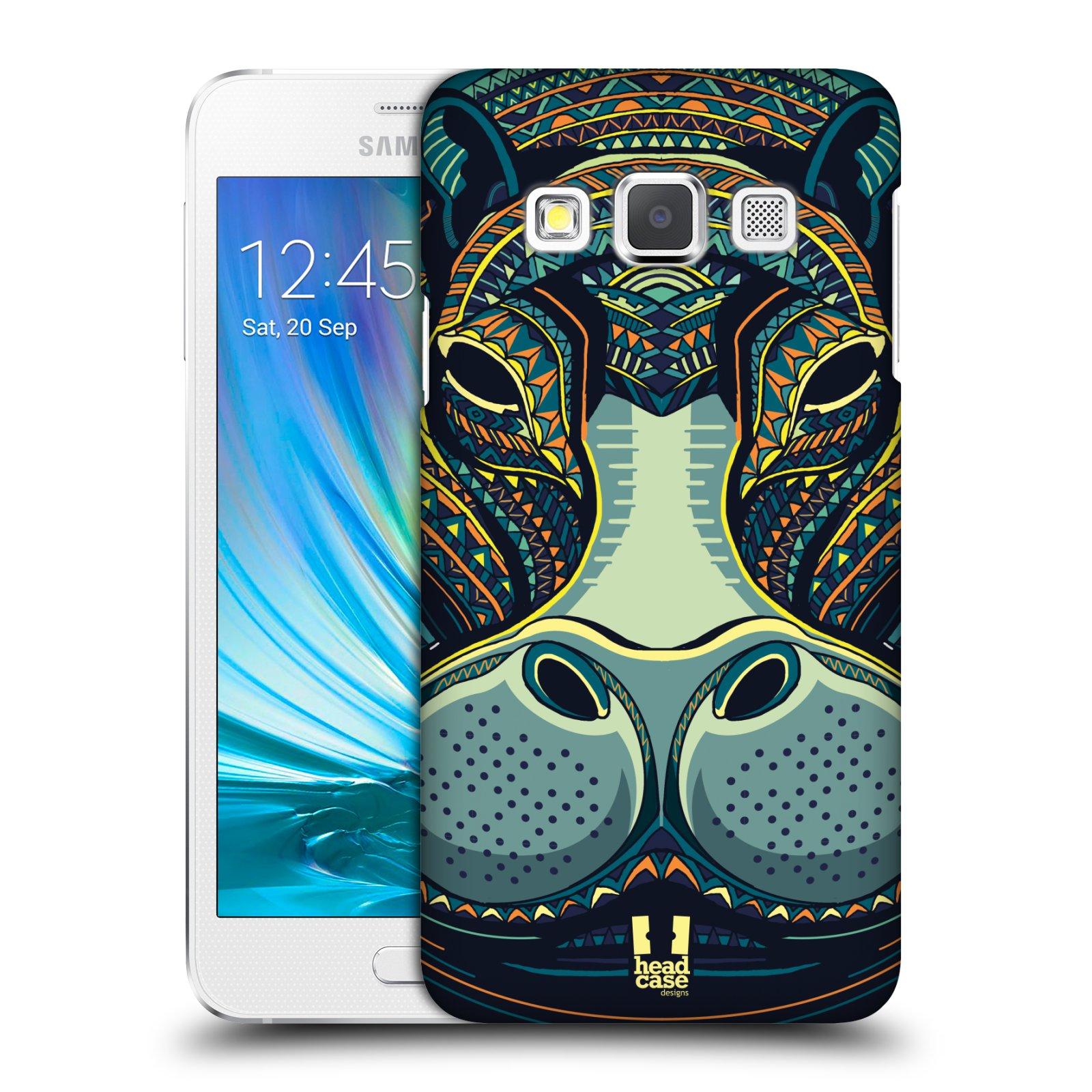 Plastové pouzdro na mobil Samsung Galaxy A3 HEAD CASE AZTEC HROCH