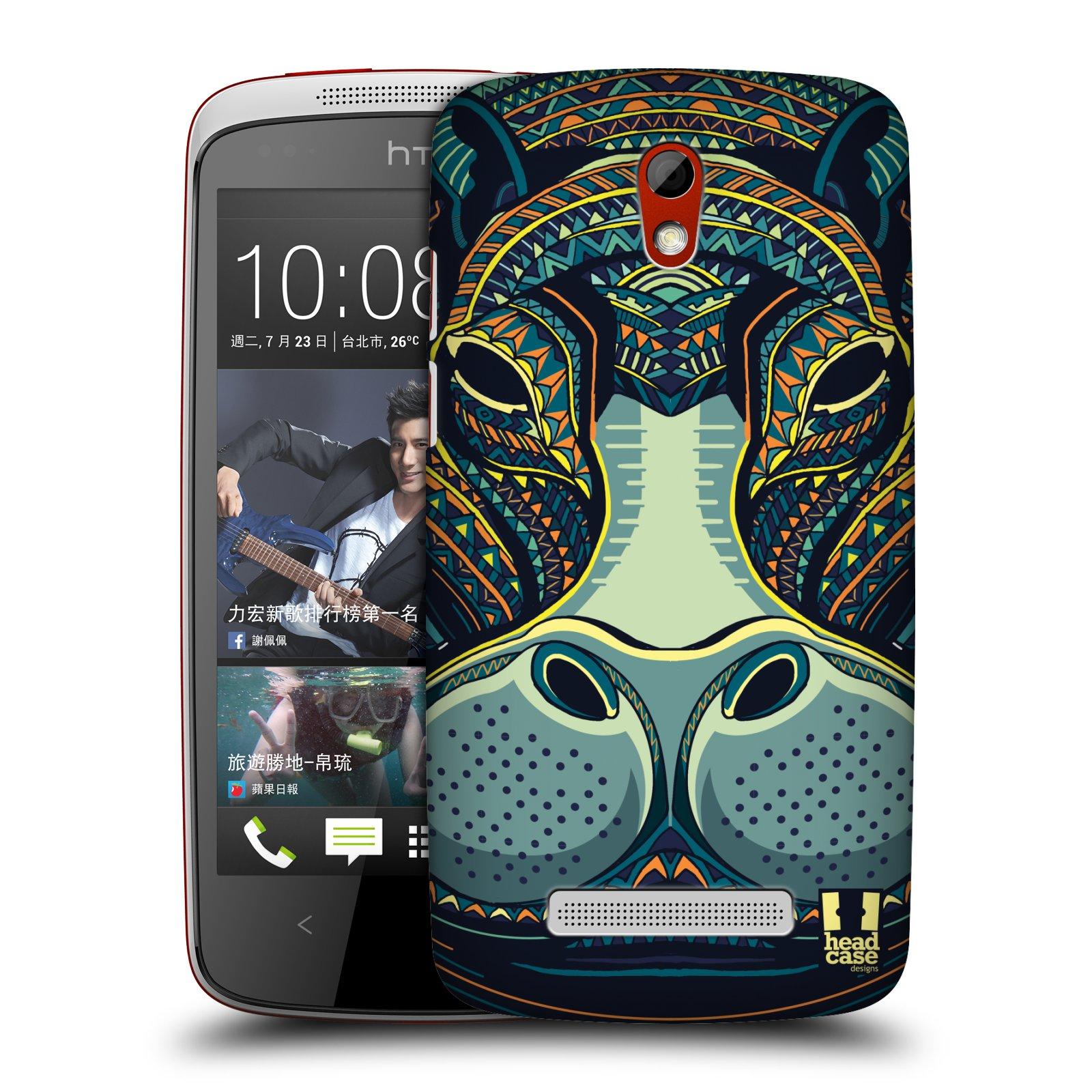 Plastové pouzdro na mobil HTC Desire 500 HEAD CASE AZTEC HROCH (Kryt či obal na mobilní telefon HTC Desire 500)