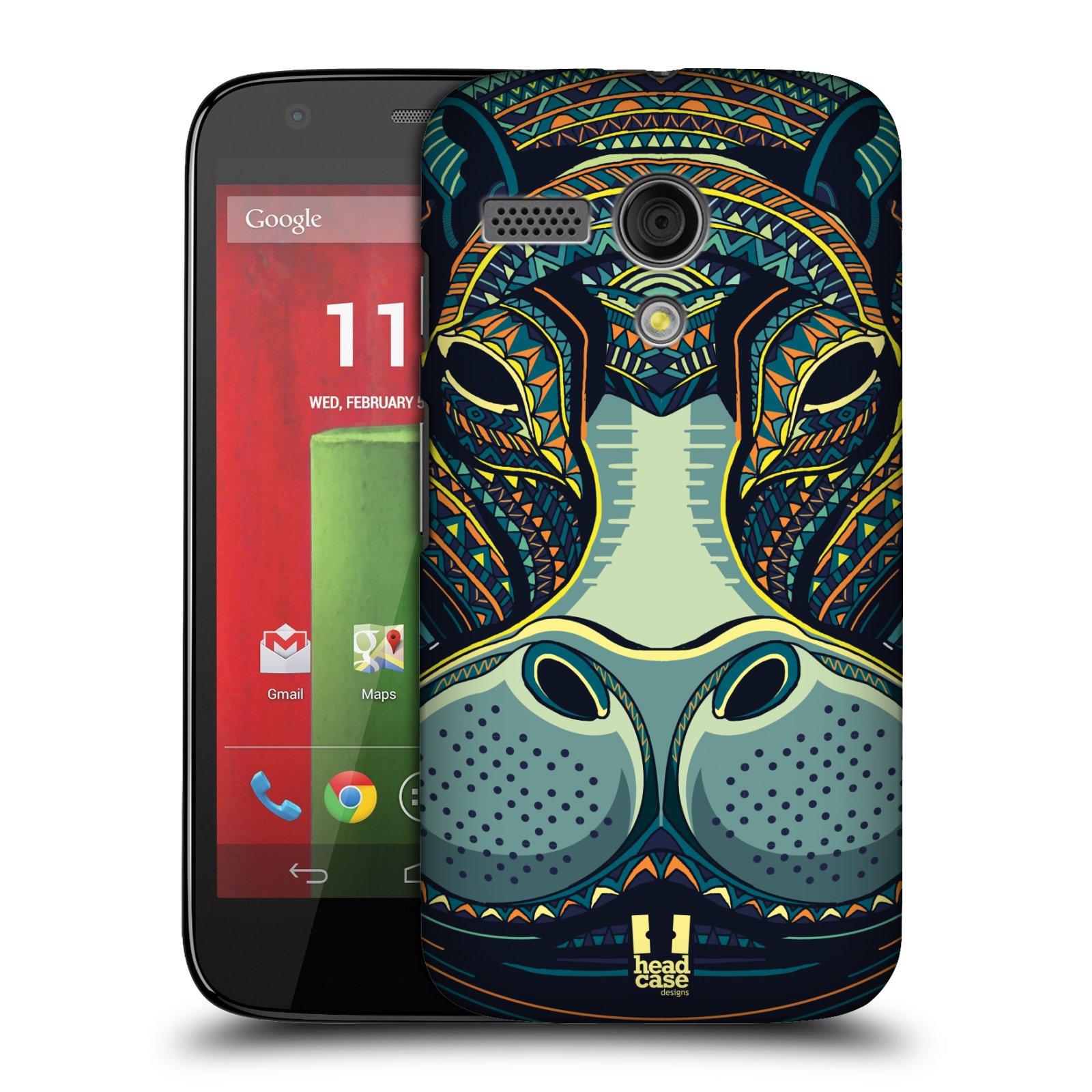 Plastové pouzdro na mobil Motorola Moto G HEAD CASE AZTEC HROCH (Kryt či obal na mobilní telefon Motorola Moto G)