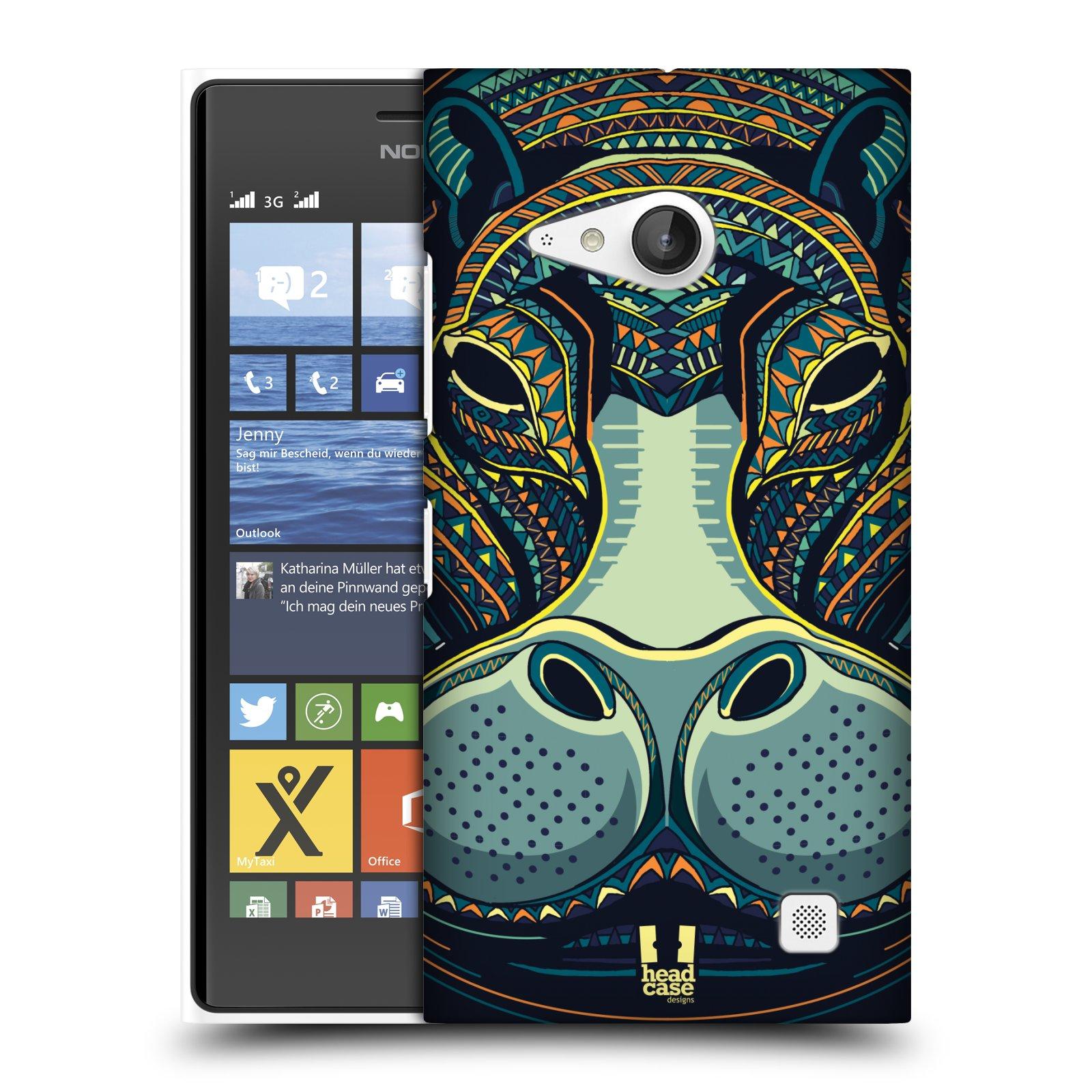 Plastové pouzdro na mobil Nokia Lumia 735 HEAD CASE AZTEC HROCH (Kryt či obal na mobilní telefon Nokia Lumia 735)