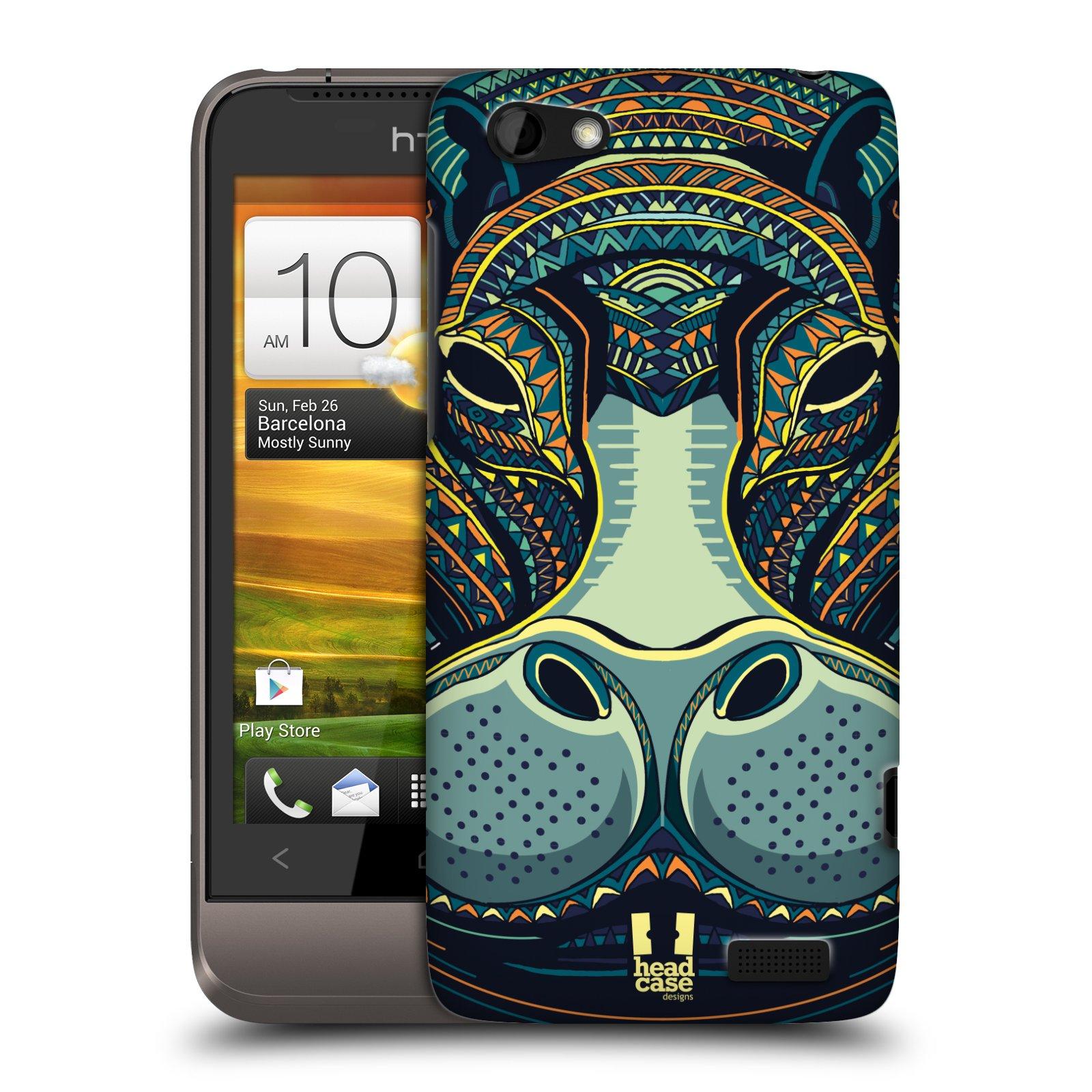 Plastové pouzdro na mobil HTC ONE V HEAD CASE AZTEC HROCH (Kryt či obal na mobilní telefon HTC ONE V)