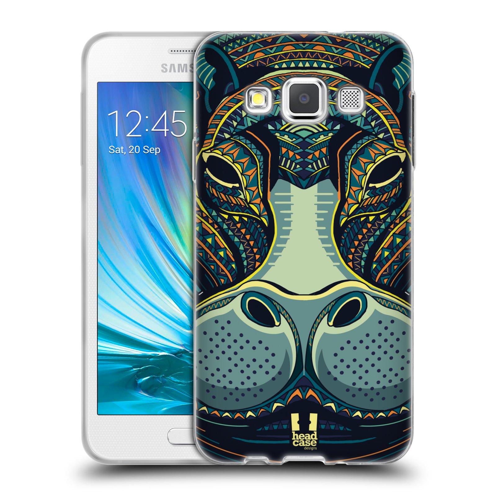 Silikonové pouzdro na mobil Samsung Galaxy A3 HEAD CASE AZTEC HROCH (Silikonový kryt či obal na mobilní telefon Samsung Galaxy A3 SM-A300)