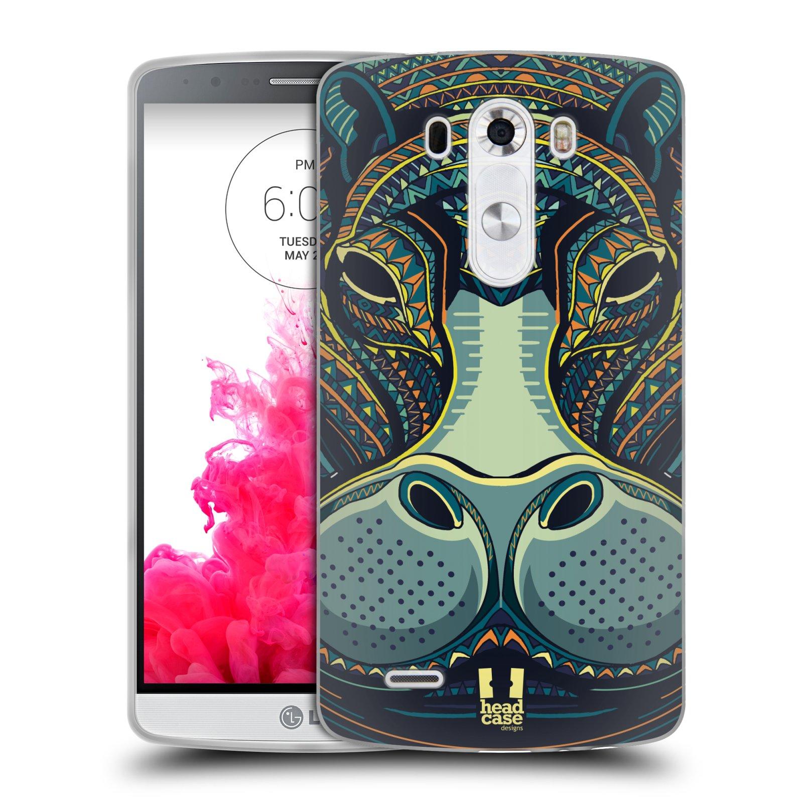 Silikonové pouzdro na mobil LG G3 HEAD CASE AZTEC HROCH (Silikonový kryt či obal na mobilní telefon LG G3 D855)