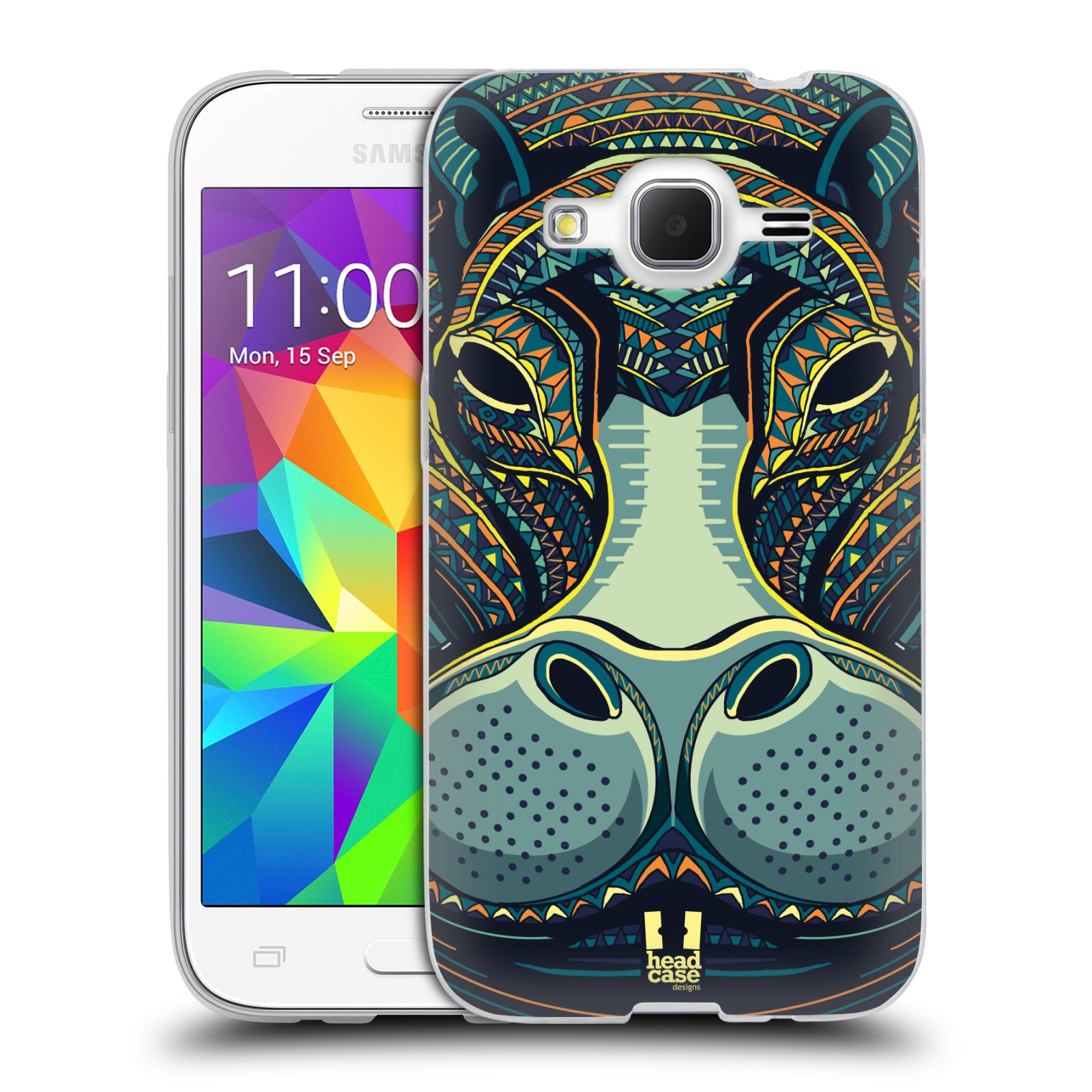 Silikonové pouzdro na mobil Samsung Galaxy Core Prime LTE HEAD CASE AZTEC HROCH (Silikonový kryt či obal na mobilní telefon Samsung Galaxy Core Prime LTE SM-G360)