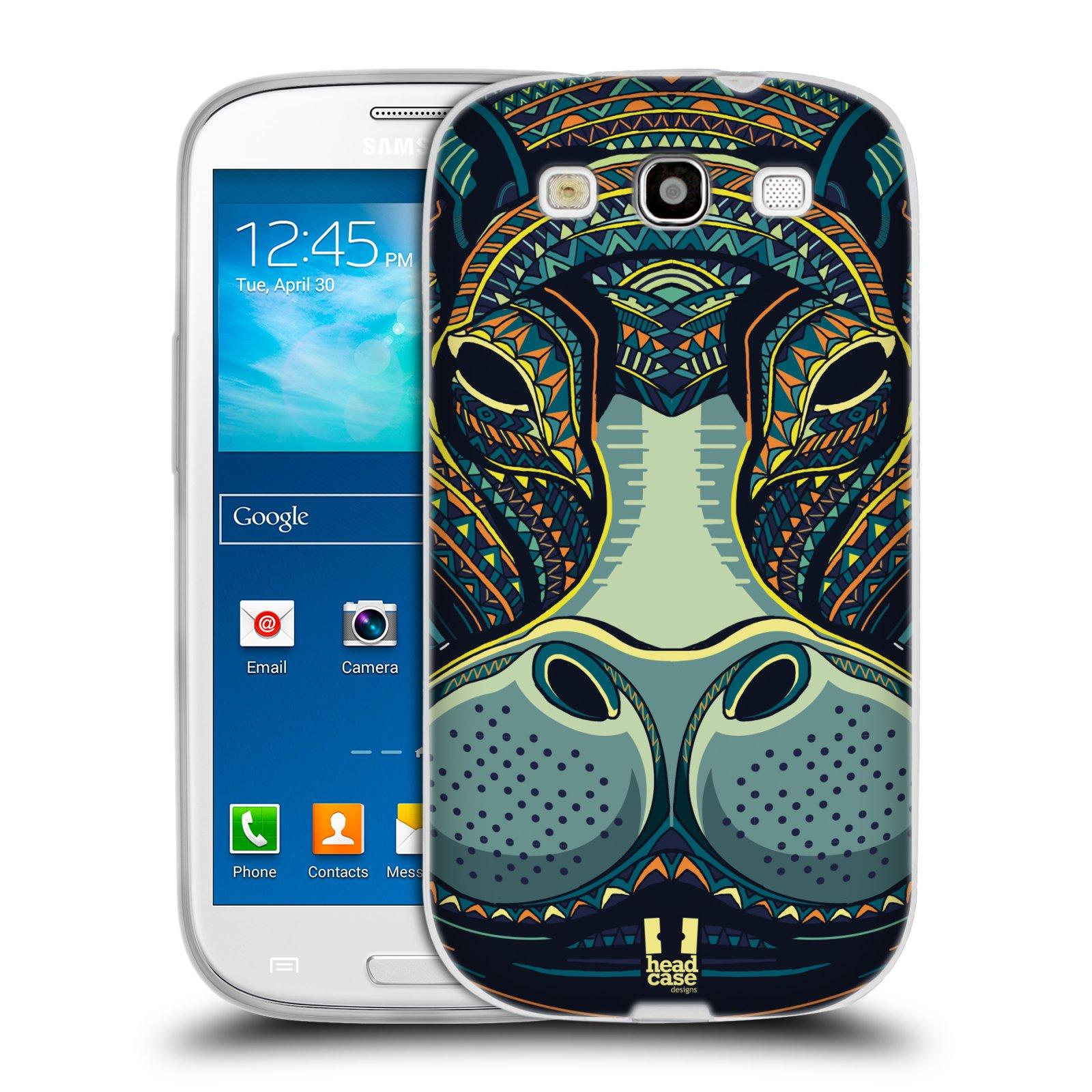 Silikonové pouzdro na mobil Samsung Galaxy S3 Neo HEAD CASE AZTEC HROCH (Silikonový kryt či obal na mobilní telefon Samsung Galaxy S3 Neo GT-i9301i)
