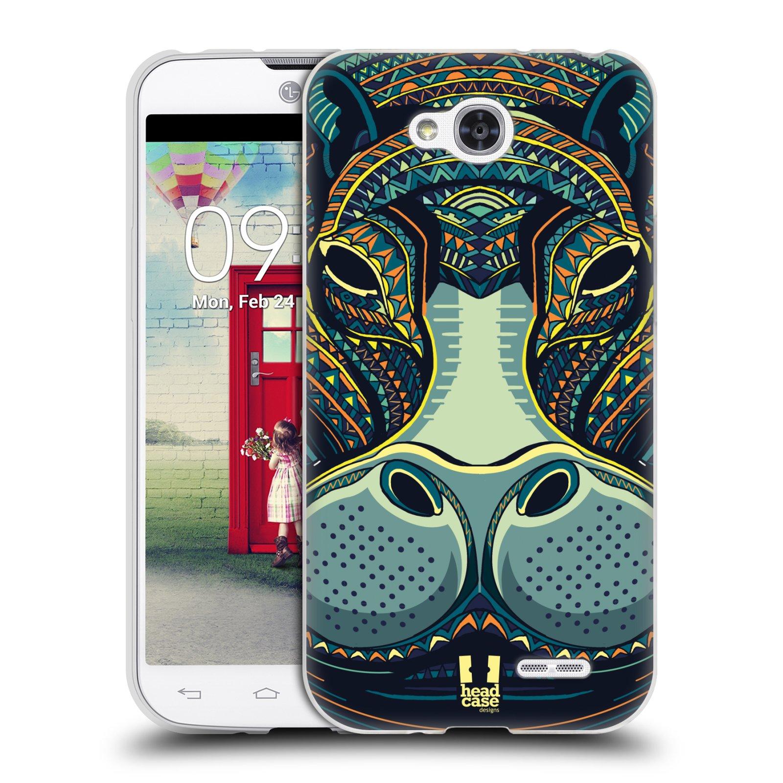 Silikonové pouzdro na mobil LG L90 HEAD CASE AZTEC HROCH (Silikonový kryt či obal na mobilní telefon LG L90 D405n)