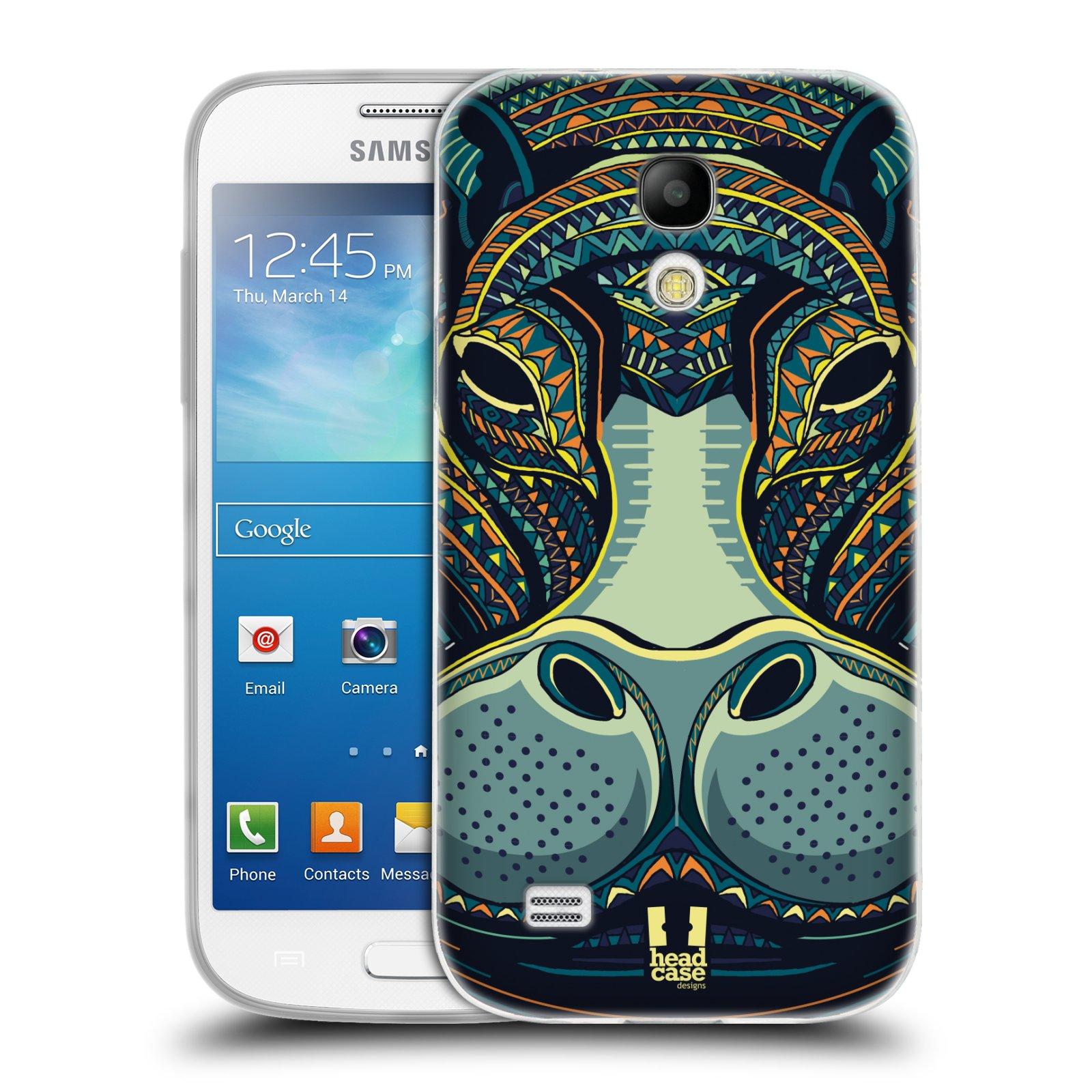 Silikonové pouzdro na mobil Samsung Galaxy S4 Mini HEAD CASE AZTEC HROCH (Silikonový kryt či obal na mobilní telefon Samsung Galaxy S4 Mini GT-i9195 / i9190 (nepasuje na verzi Black Edition))