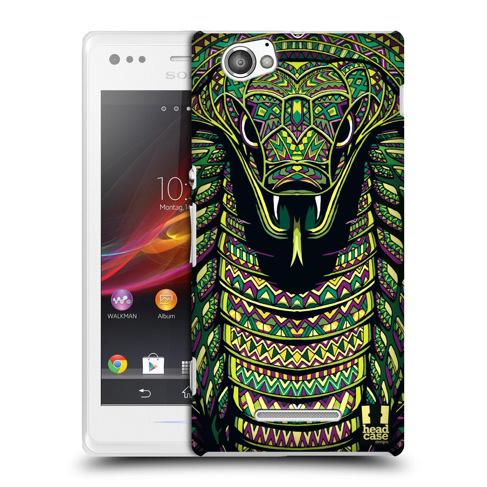 Plastové pouzdro na mobil Sony Xperia M C1905 HEAD CASE AZTEC HAD