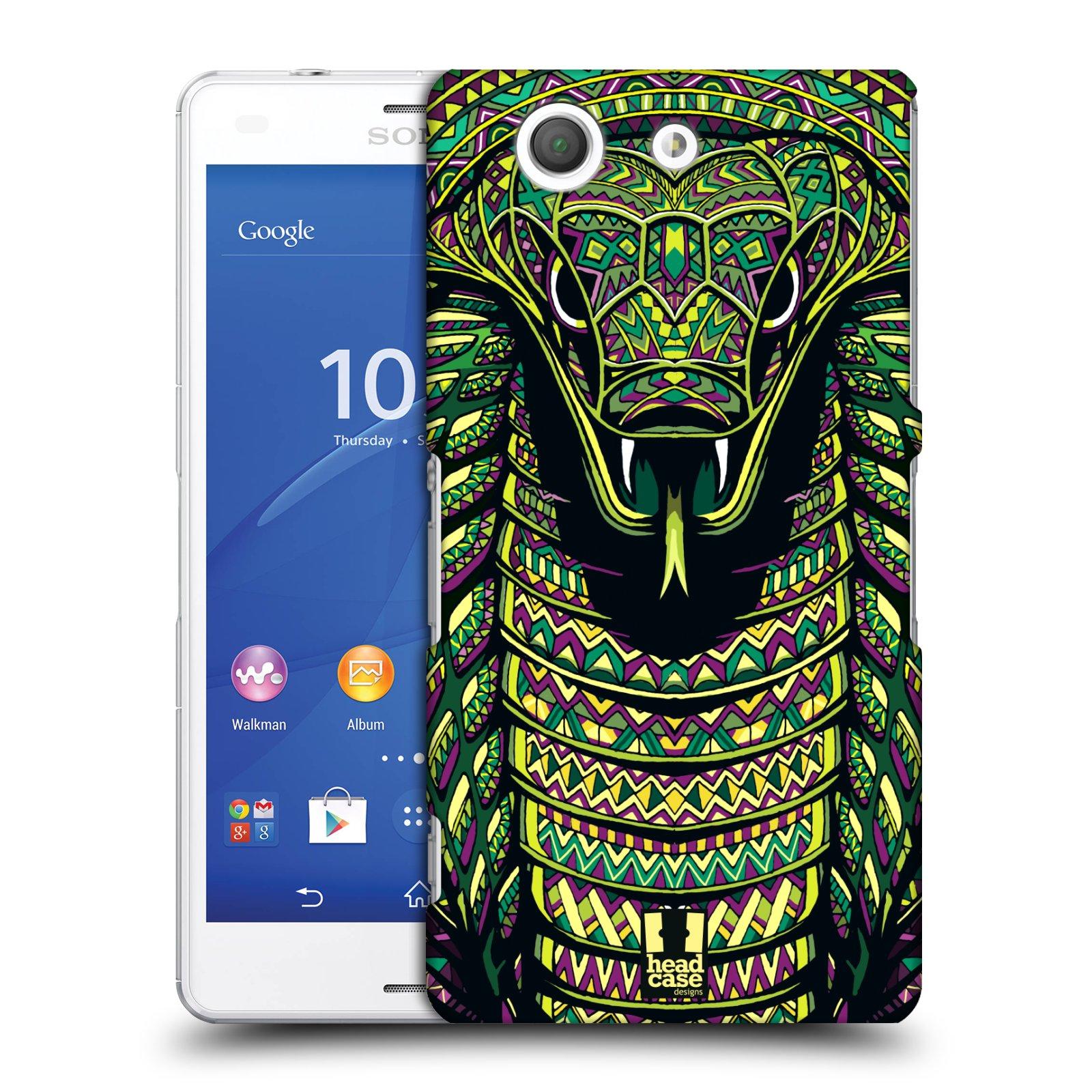Plastové pouzdro na mobil Sony Xperia Z3 Compact D5803 HEAD CASE AZTEC HAD
