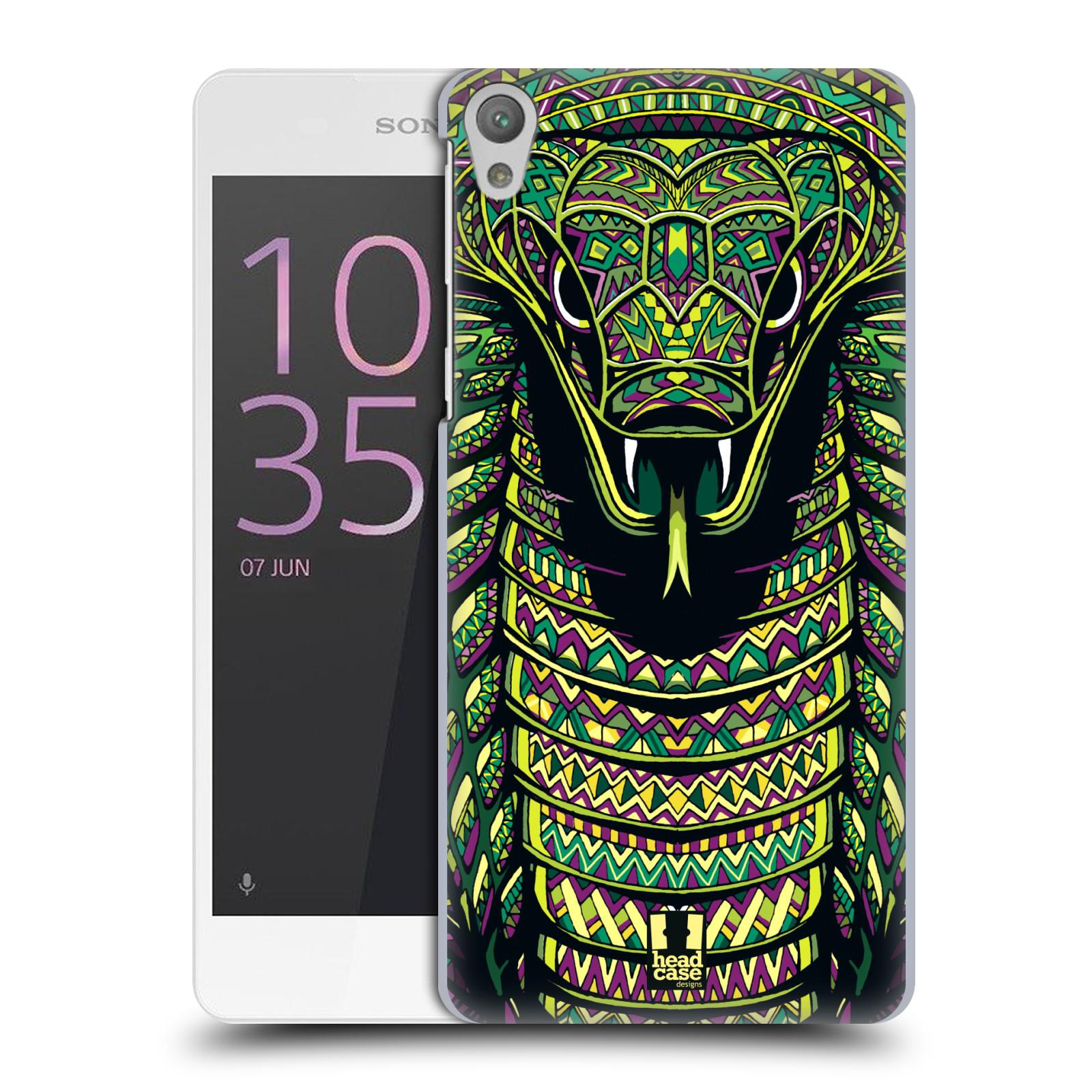 Plastové pouzdro na mobil Sony Xperia E5 HEAD CASE AZTEC HAD