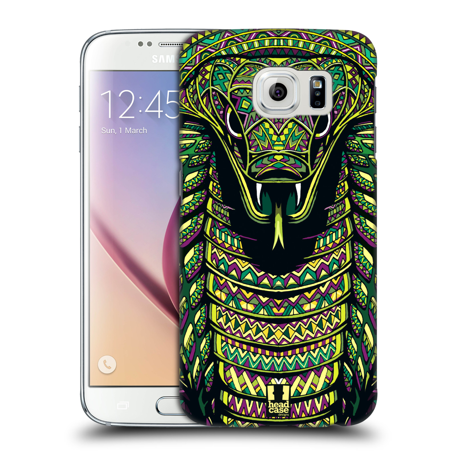 Plastové pouzdro na mobil Samsung Galaxy S6 HEAD CASE AZTEC HAD