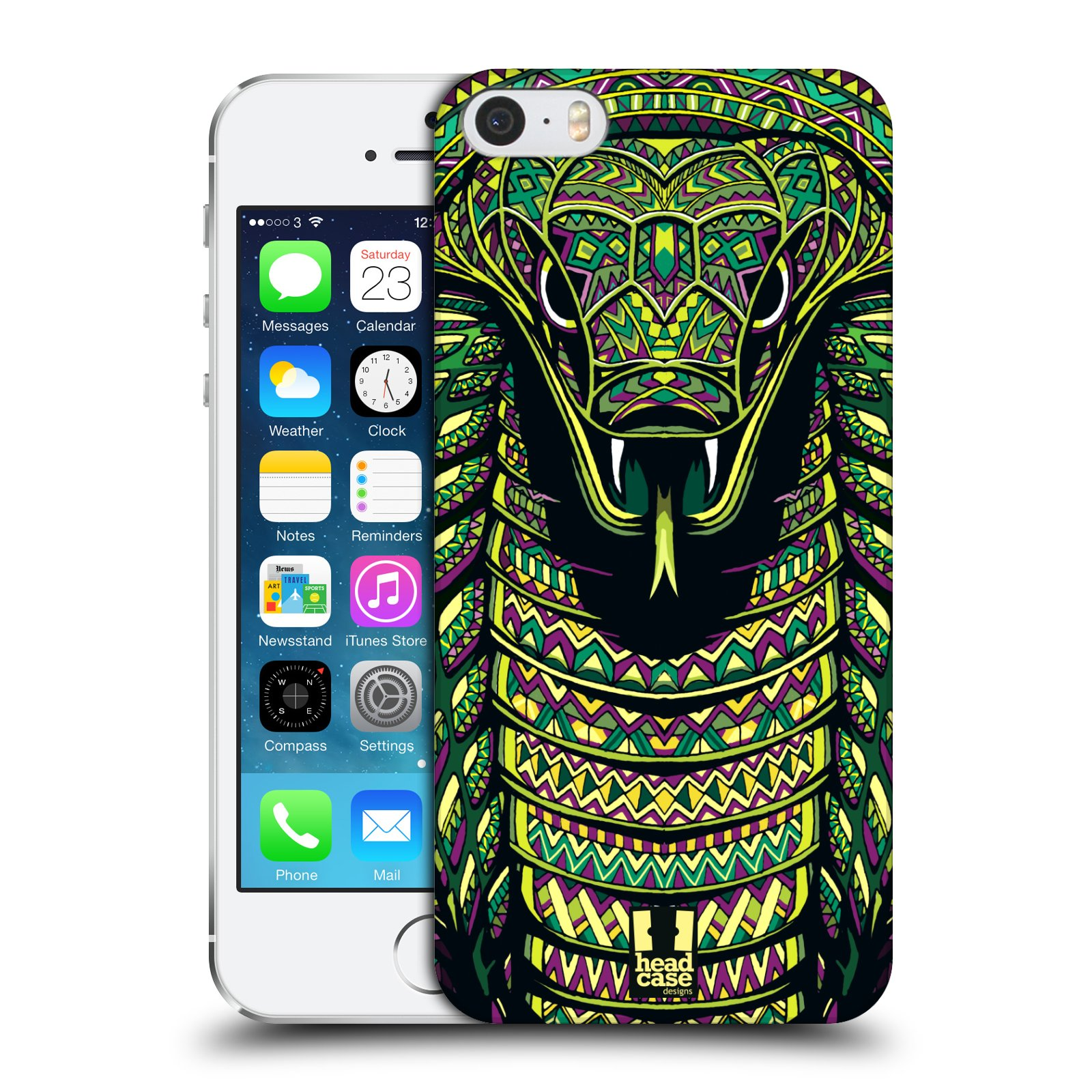 Plastové pouzdro na mobil Apple iPhone SE, 5 a 5S HEAD CASE AZTEC HAD