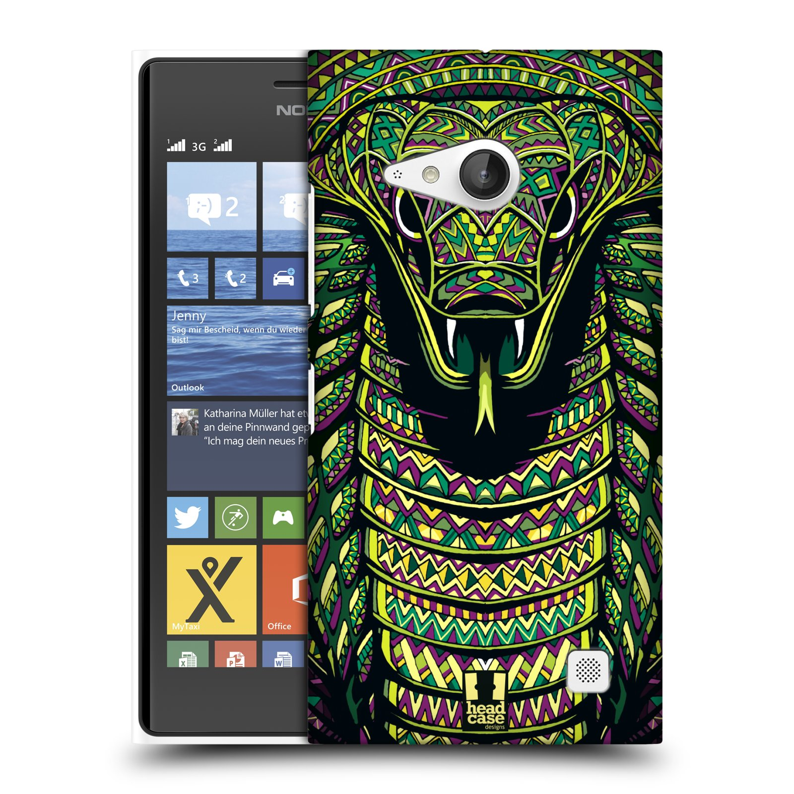 Plastové pouzdro na mobil Nokia Lumia 735 HEAD CASE AZTEC HAD