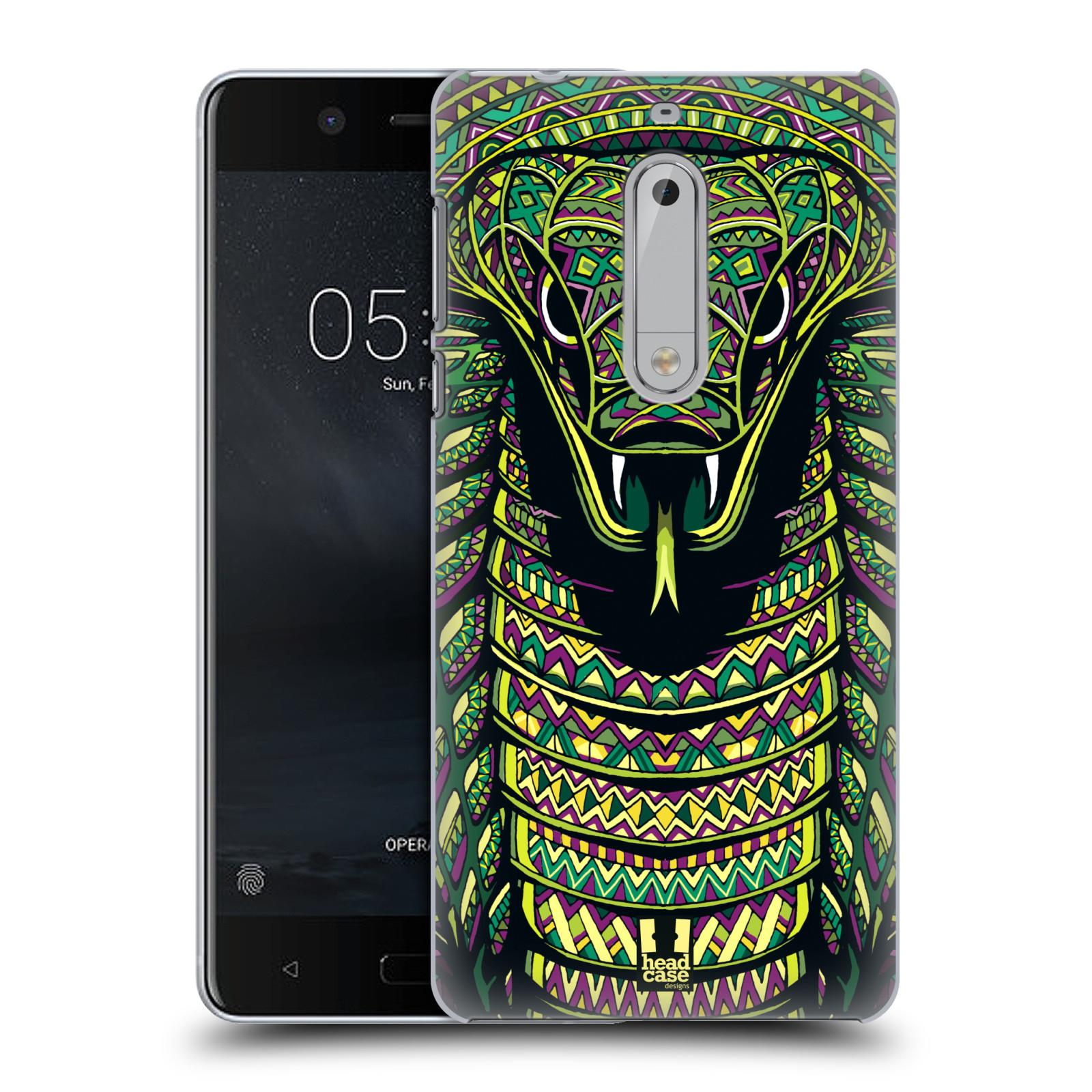 Plastové pouzdro na mobil Nokia 5 Head Case - AZTEC HAD