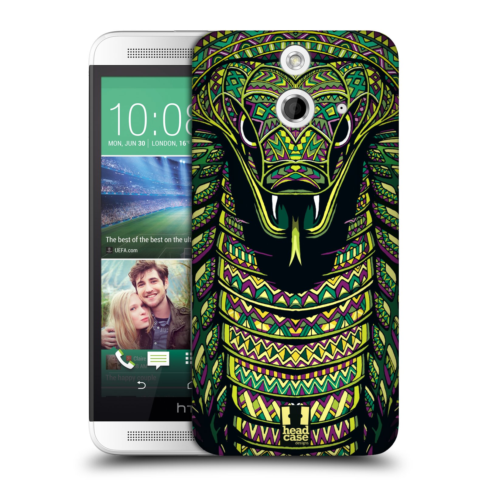 Plastové pouzdro na mobil HTC ONE E8 HEAD CASE AZTEC HAD (Kryt či obal na mobilní telefon HTC ONE E8)