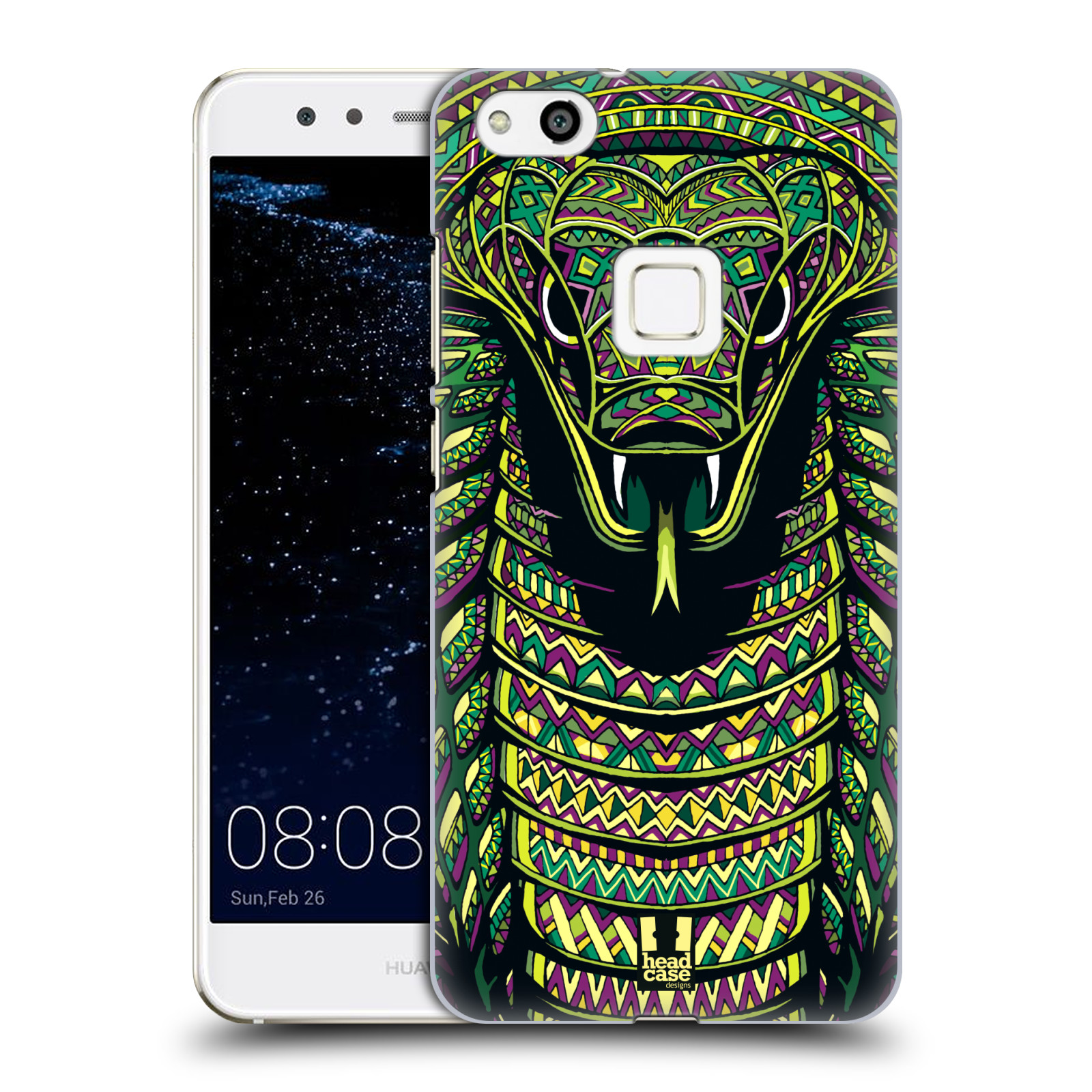 Plastové pouzdro na mobil Huawei P10 Lite Head Case - AZTEC HAD (Plastový kryt či obal na mobilní telefon Huawei P10 Lite Dual SIM (LX1/LX1A))