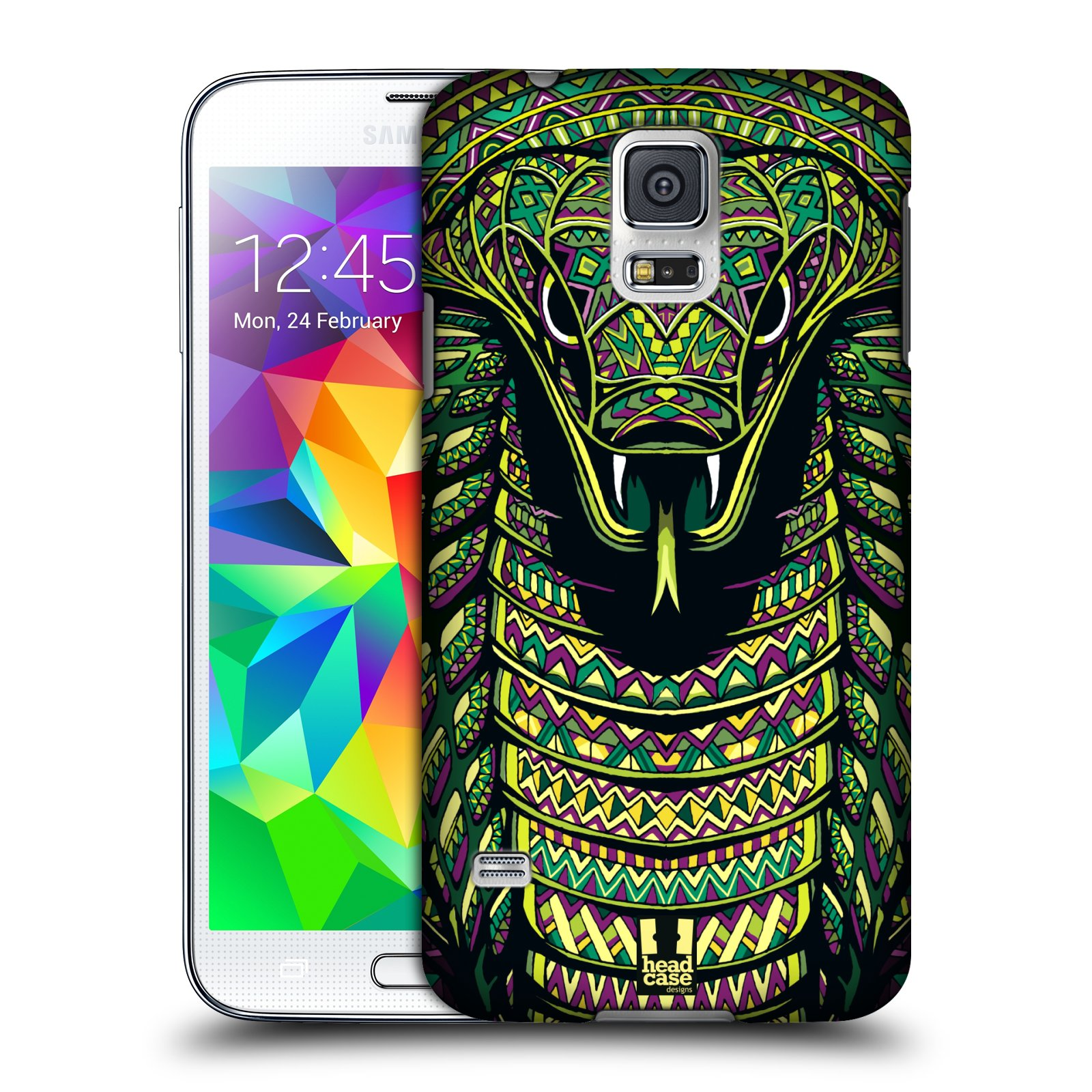 Plastové pouzdro na mobil Samsung Galaxy S5 HEAD CASE AZTEC HAD