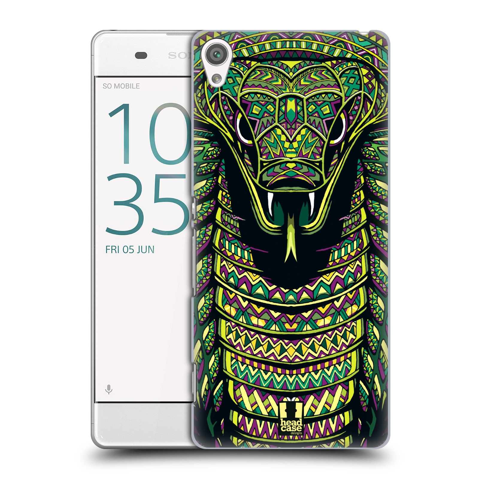 Plastové pouzdro na mobil Sony Xperia XA HEAD CASE AZTEC HAD