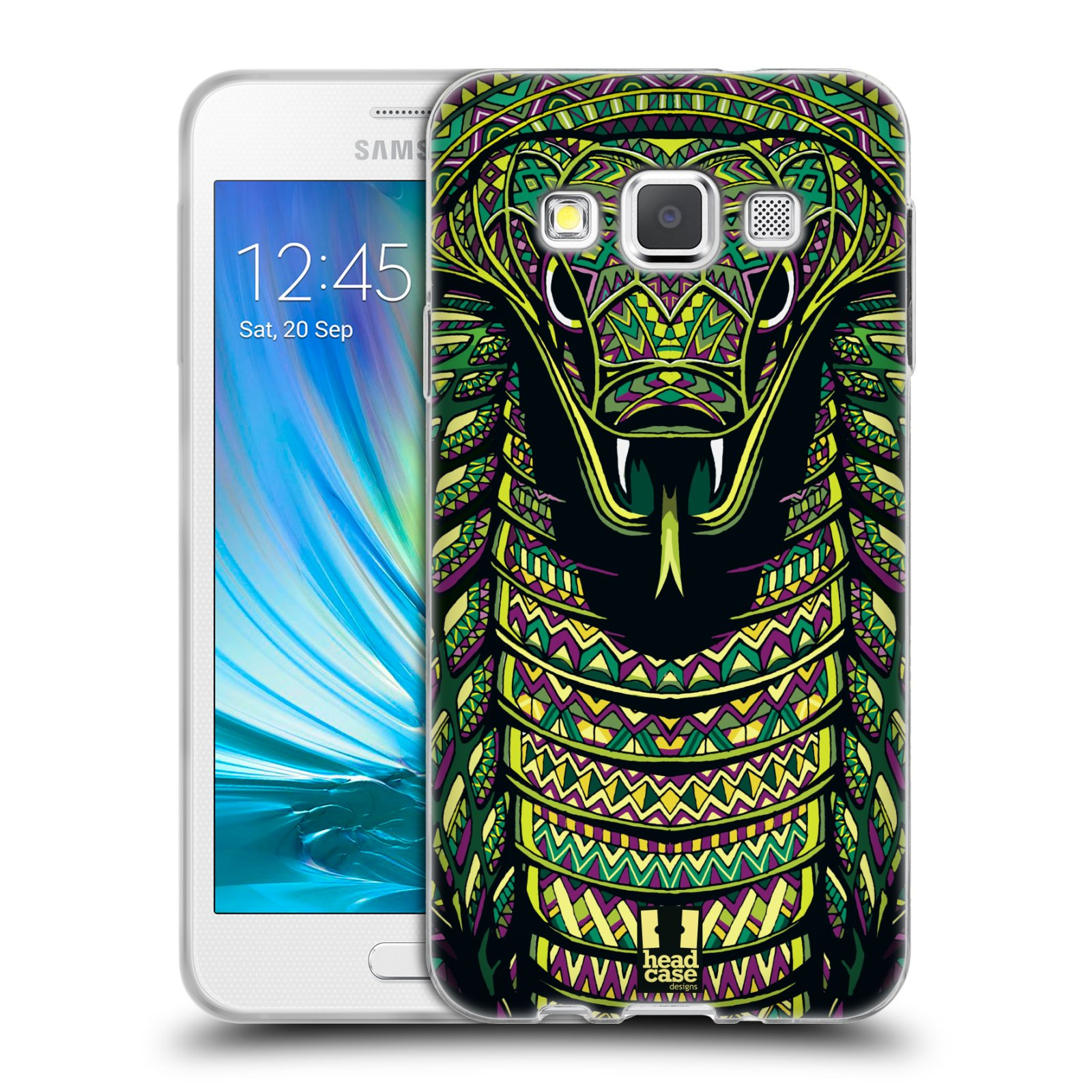 Silikonové pouzdro na mobil Samsung Galaxy A3 HEAD CASE AZTEC HAD