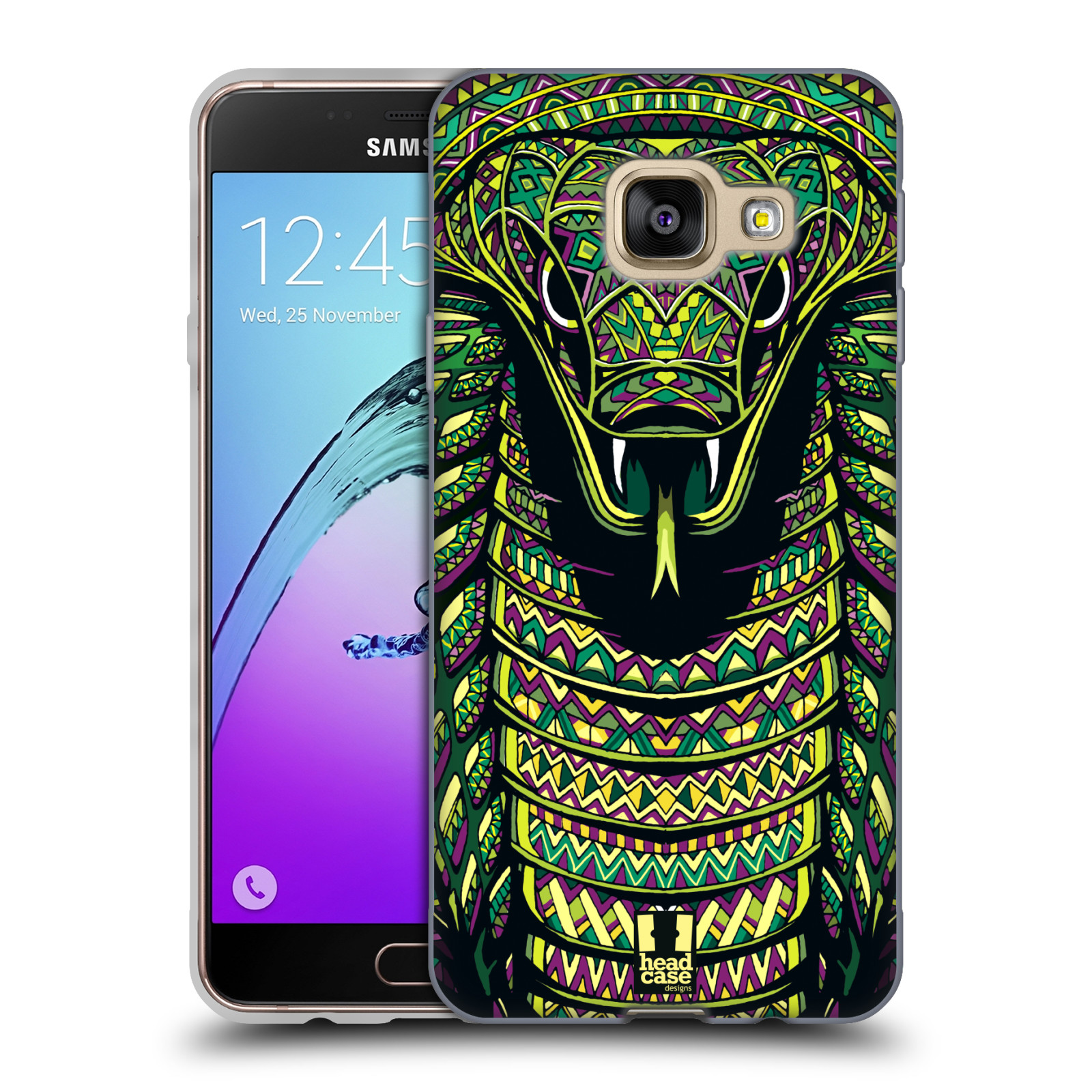 Silikonové pouzdro na mobil Samsung Galaxy A3 (2016) HEAD CASE AZTEC HAD