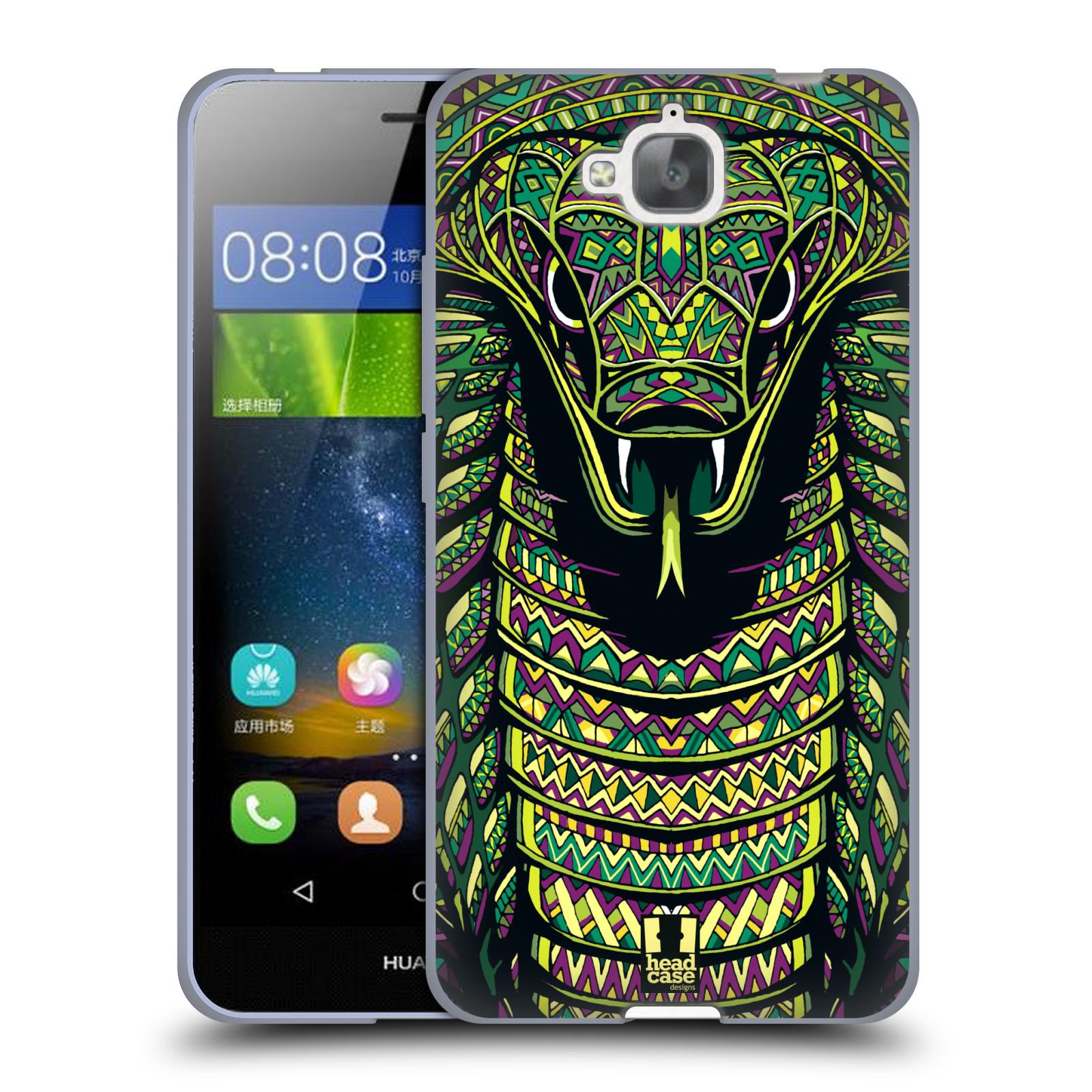Silikonové pouzdro na mobil Huawei Y6 Pro Dual Sim HEAD CASE AZTEC HAD