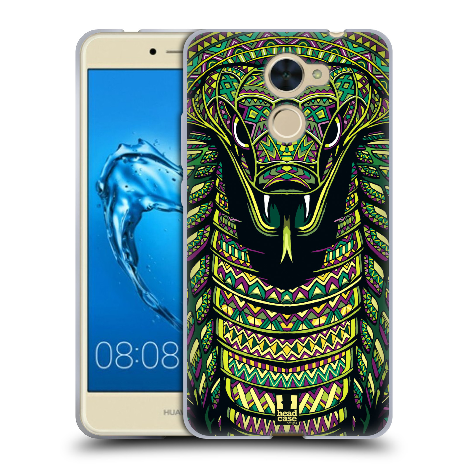 Silikonové pouzdro na mobil Huawei Y7 - Head Case - AZTEC HAD