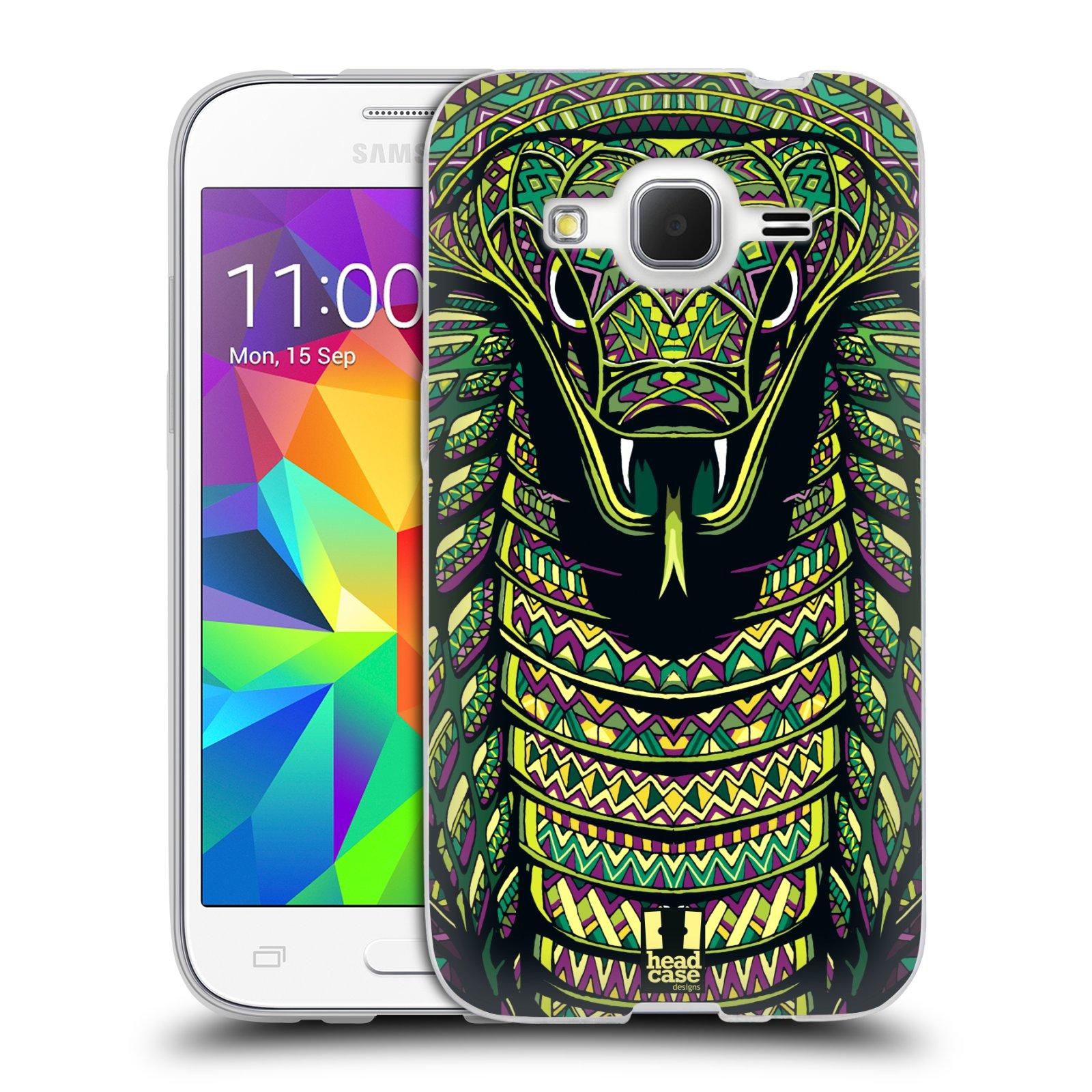 Silikonové pouzdro na mobil Samsung Galaxy Core Prime LTE HEAD CASE AZTEC HAD