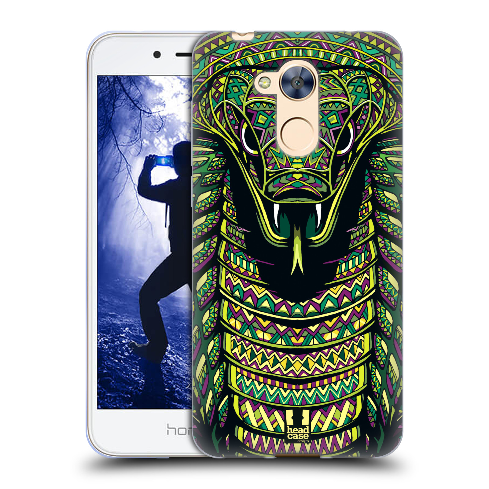Silikonové pouzdro na mobil Honor 6A - Head Case - AZTEC HAD
