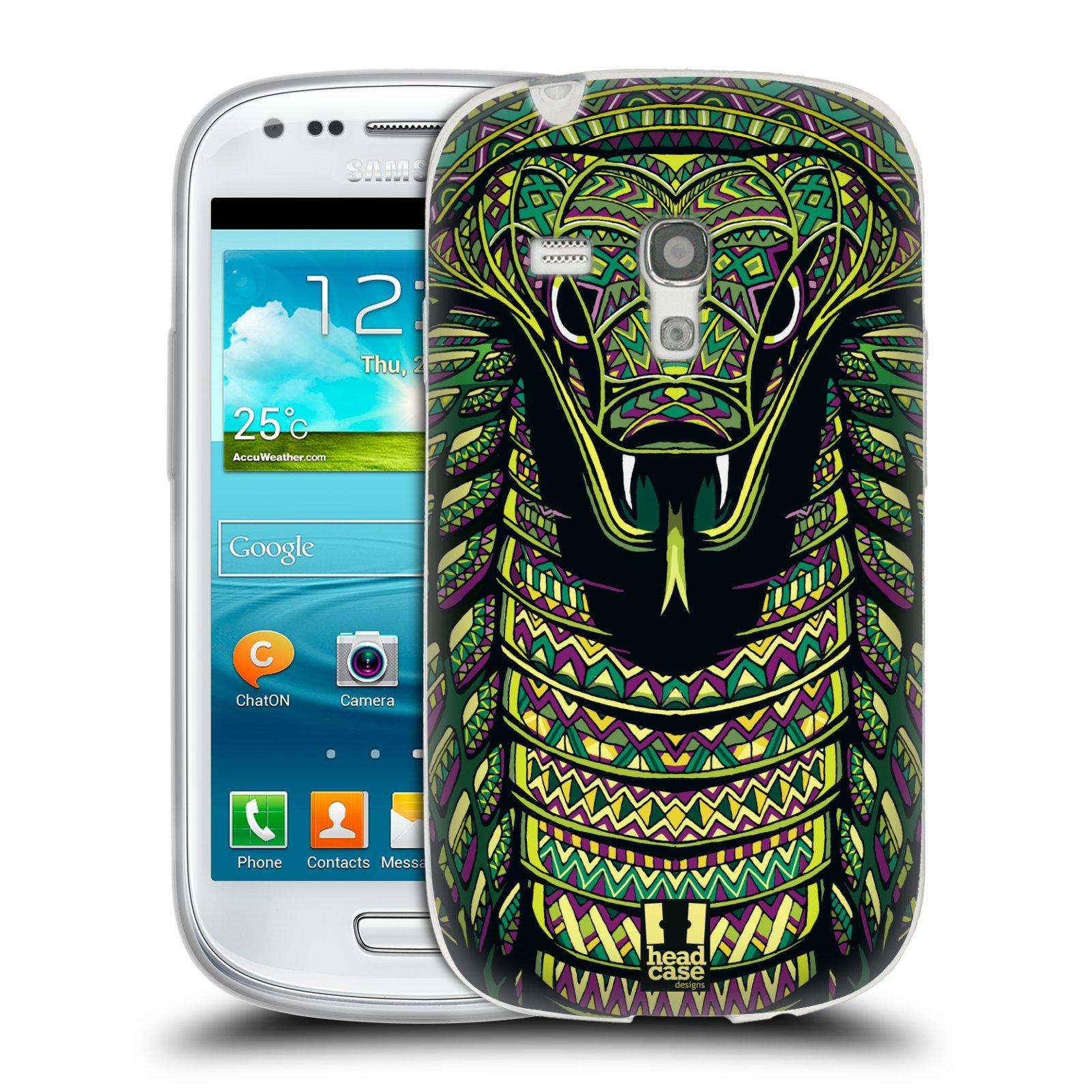 Silikonové pouzdro na mobil Samsung Galaxy S III Mini HEAD CASE AZTEC HAD (Silikonový kryt či obal na mobilní telefon Samsung Galaxy S III Mini GT-i8190)