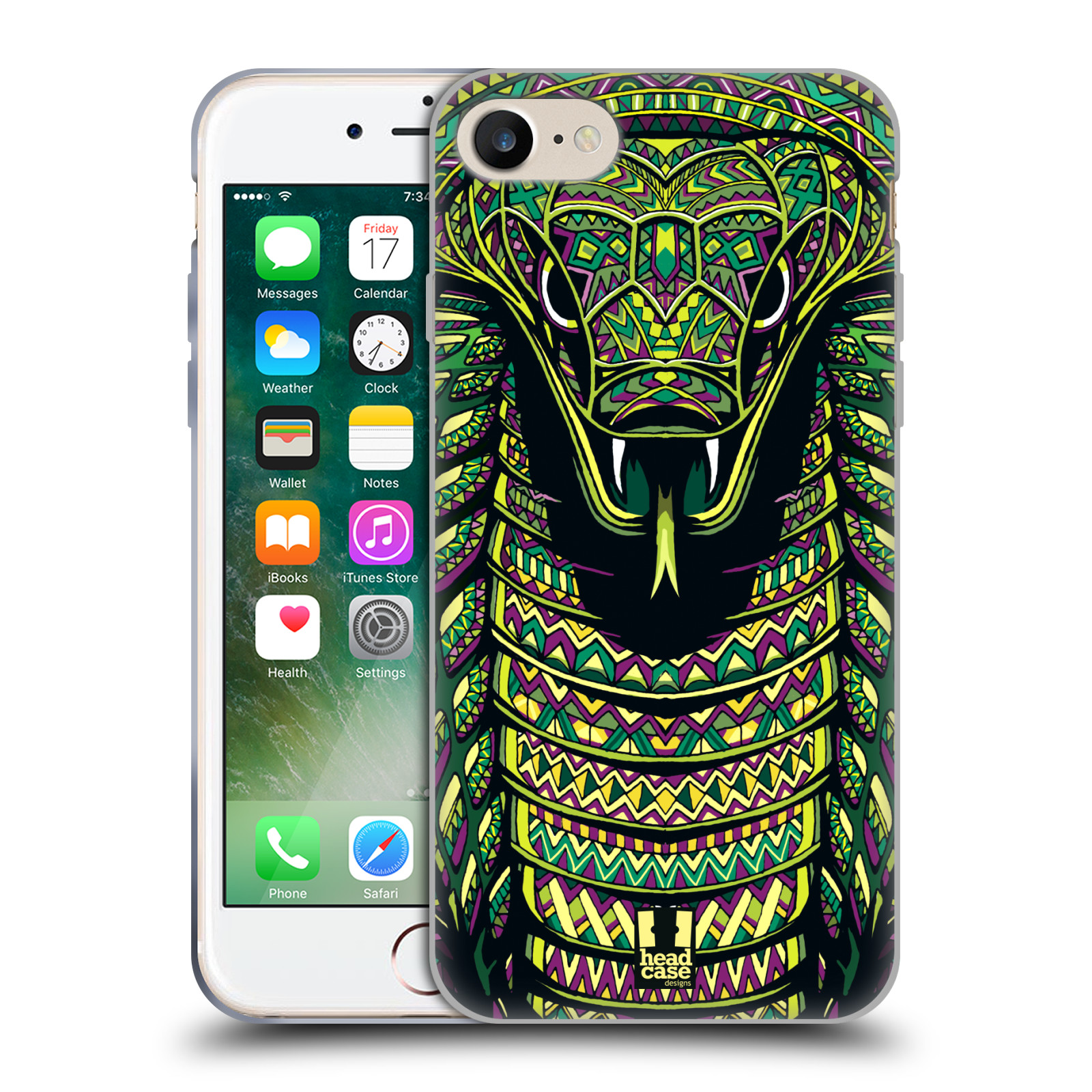 Silikonové pouzdro na mobil Apple iPhone 8 - Head Case - AZTEC HAD