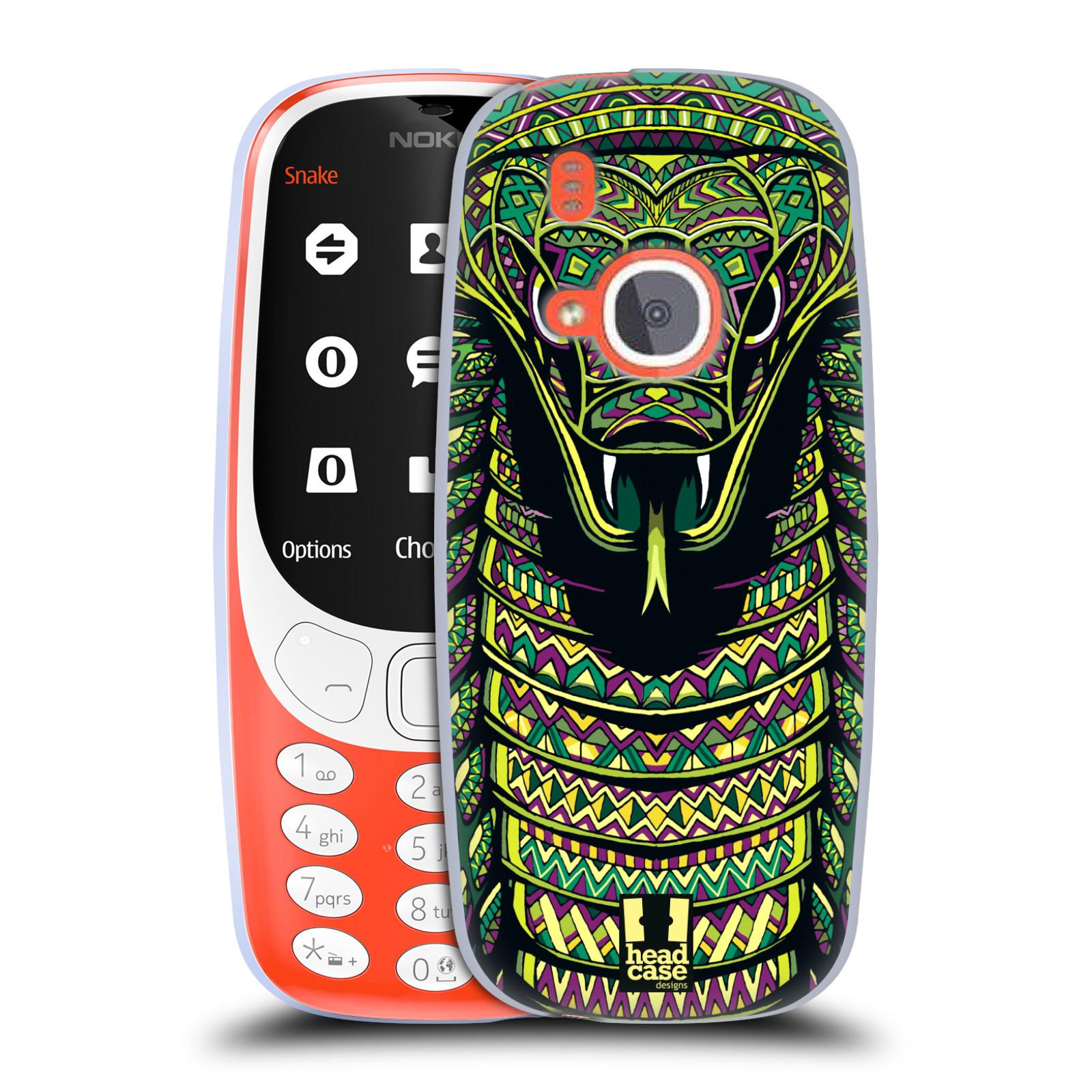Silikonové pouzdro na mobil Nokia 3310 - Head Case - AZTEC HAD