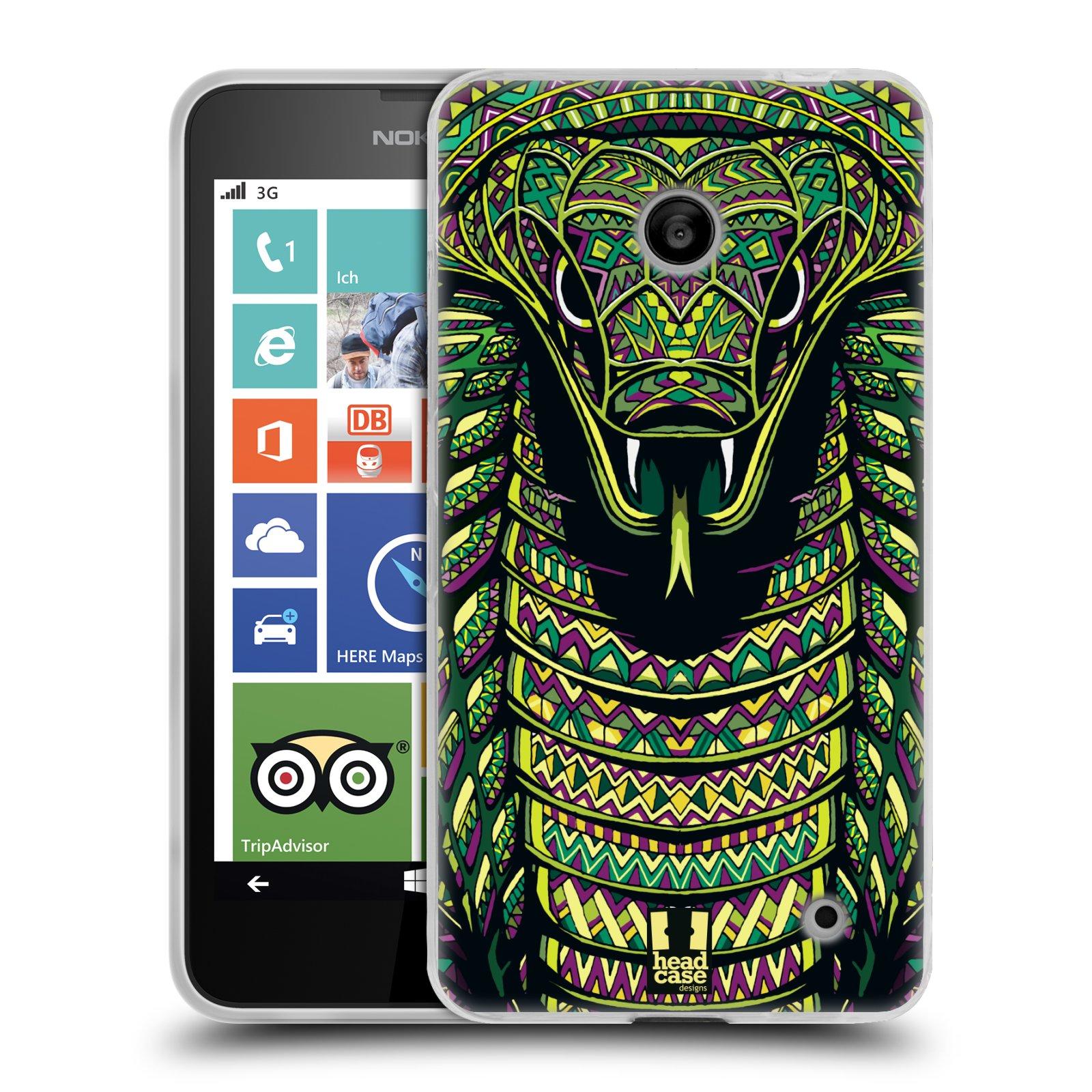 Silikonové pouzdro na mobil Nokia Lumia 630 HEAD CASE AZTEC HAD (Silikonový kryt či obal na mobilní telefon Nokia Lumia 630 a Nokia Lumia 630 Dual SIM)