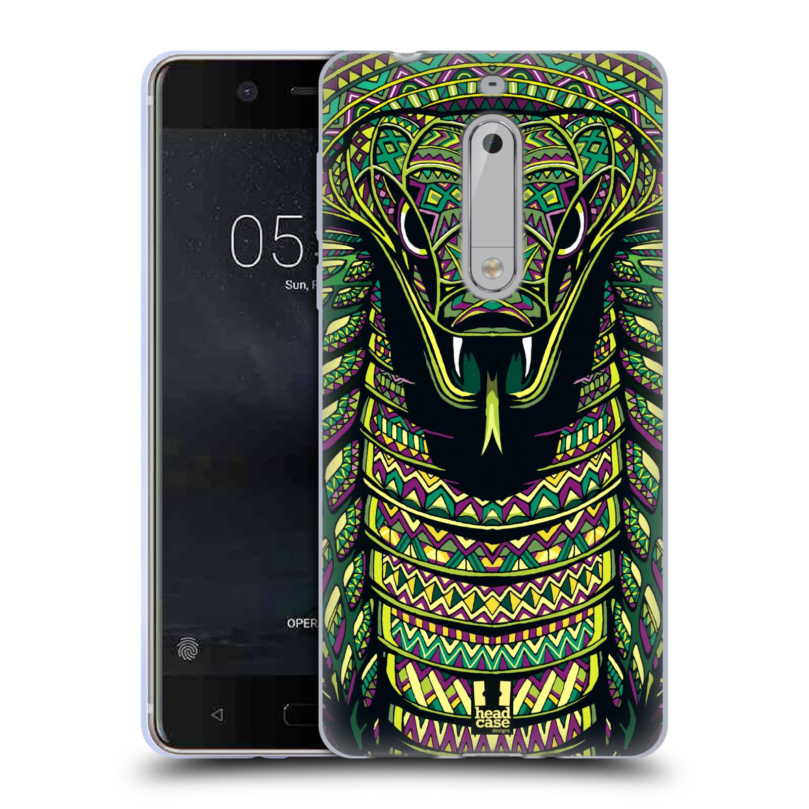 Silikonové pouzdro na mobil Nokia 5 Head Case - AZTEC HAD