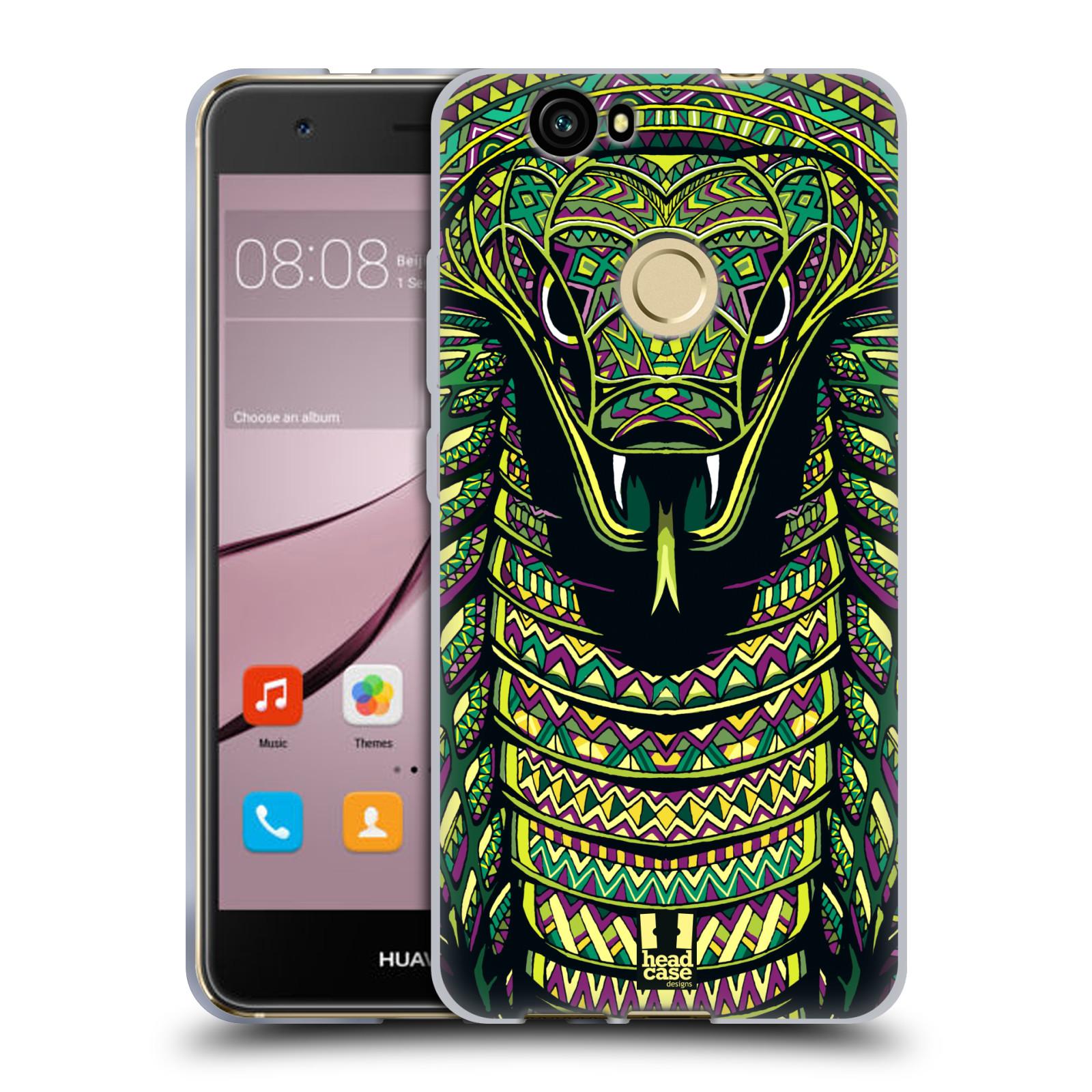 Silikonové pouzdro na mobil Huawei Nova - Head Case - AZTEC HAD
