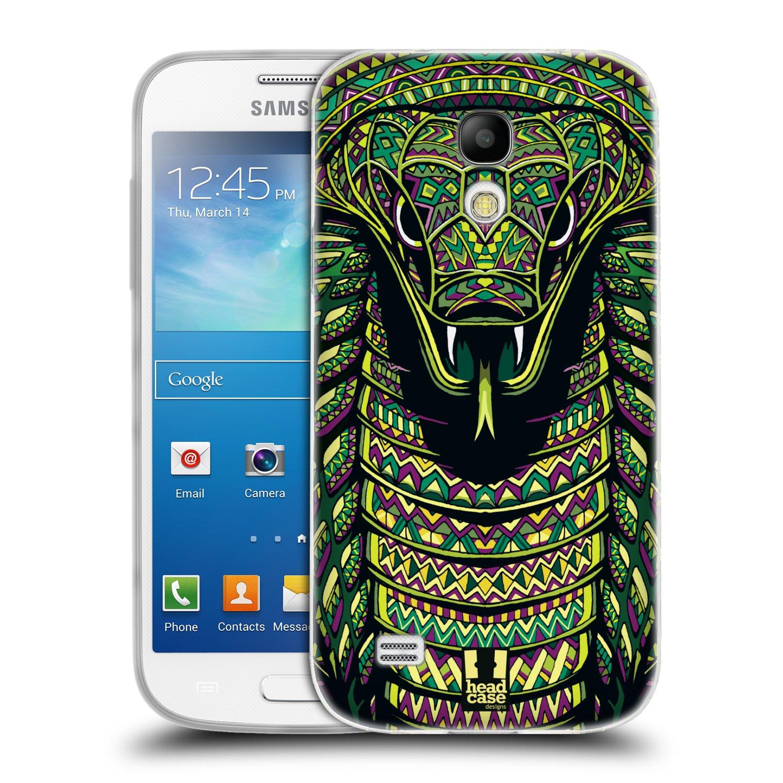 Silikonové pouzdro na mobil Samsung Galaxy S4 Mini HEAD CASE AZTEC HAD