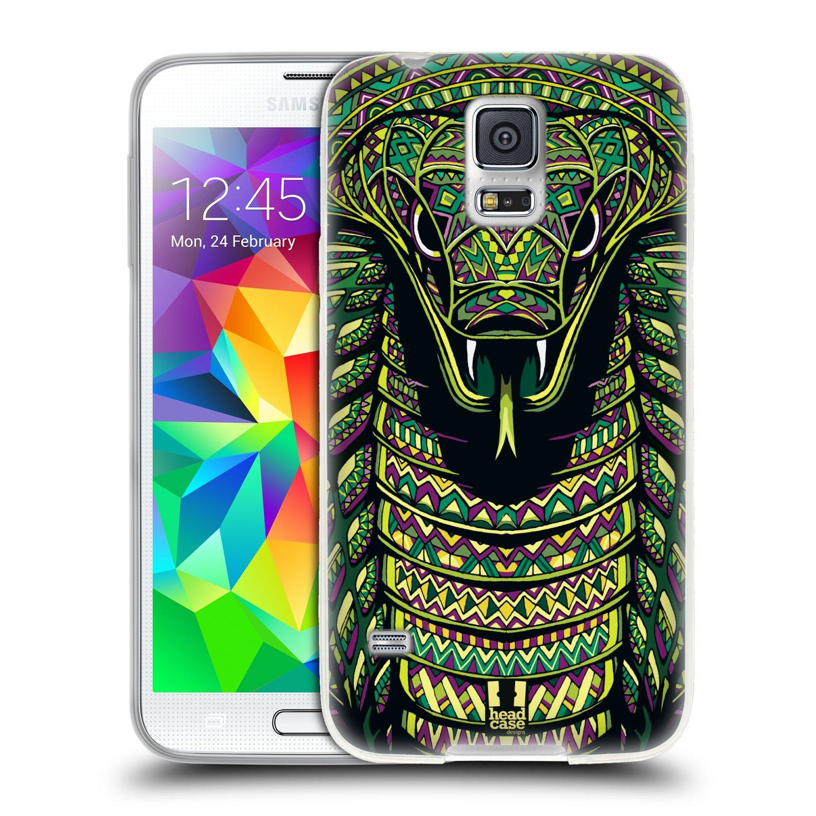 Silikonové pouzdro na mobil Samsung Galaxy S5 HEAD CASE AZTEC HAD
