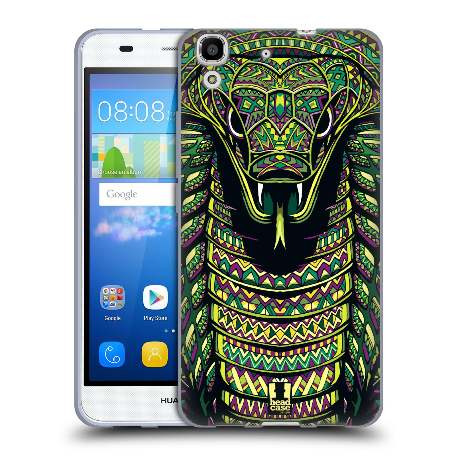 Silikonové pouzdro na mobil Huawei Y6 HEAD CASE AZTEC HAD