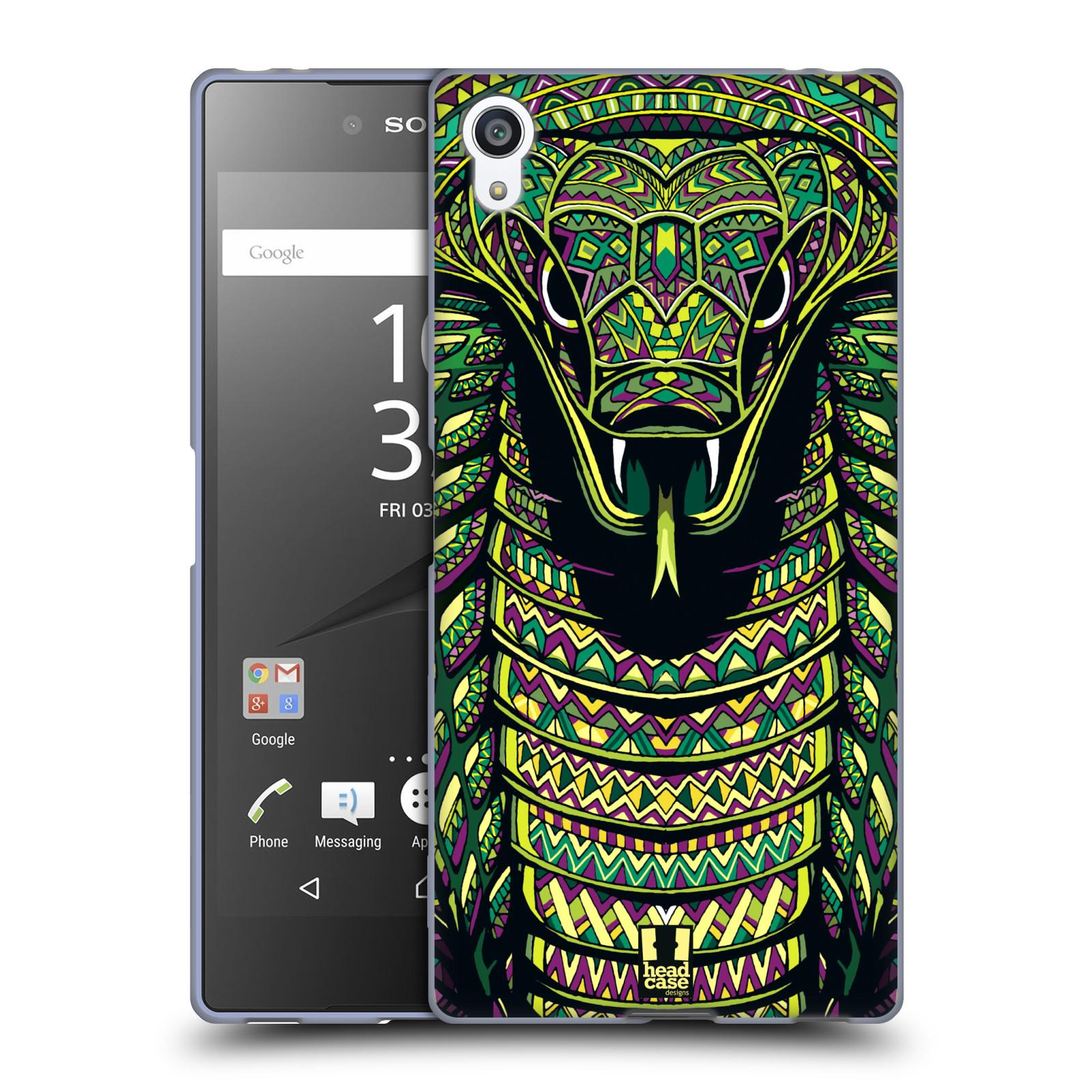 Silikonové pouzdro na mobil Sony Xperia Z5 Premium HEAD CASE AZTEC HAD