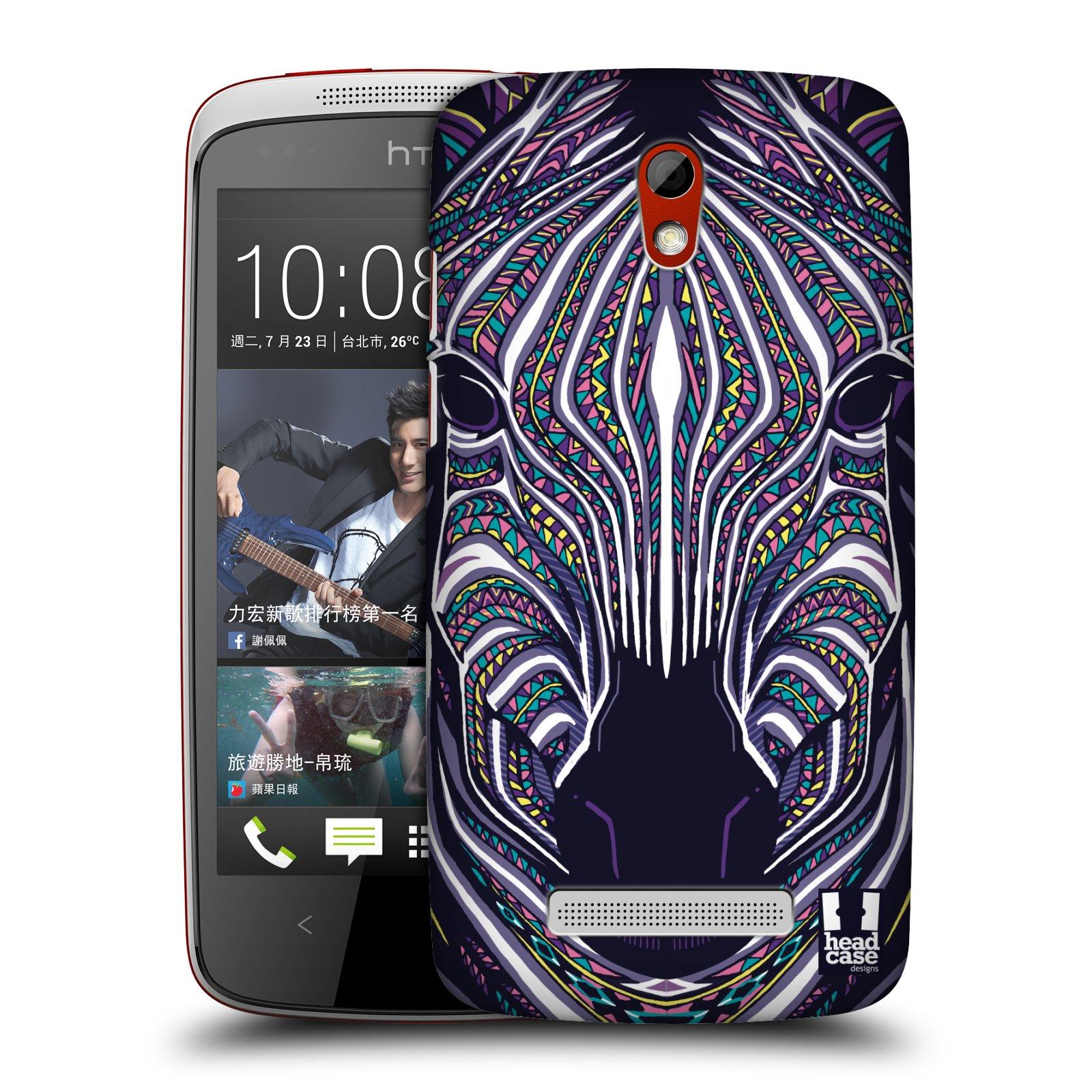 Plastové pouzdro na mobil HTC Desire 500 HEAD CASE AZTEC ZEBRA (Kryt či obal na mobilní telefon HTC Desire 500)
