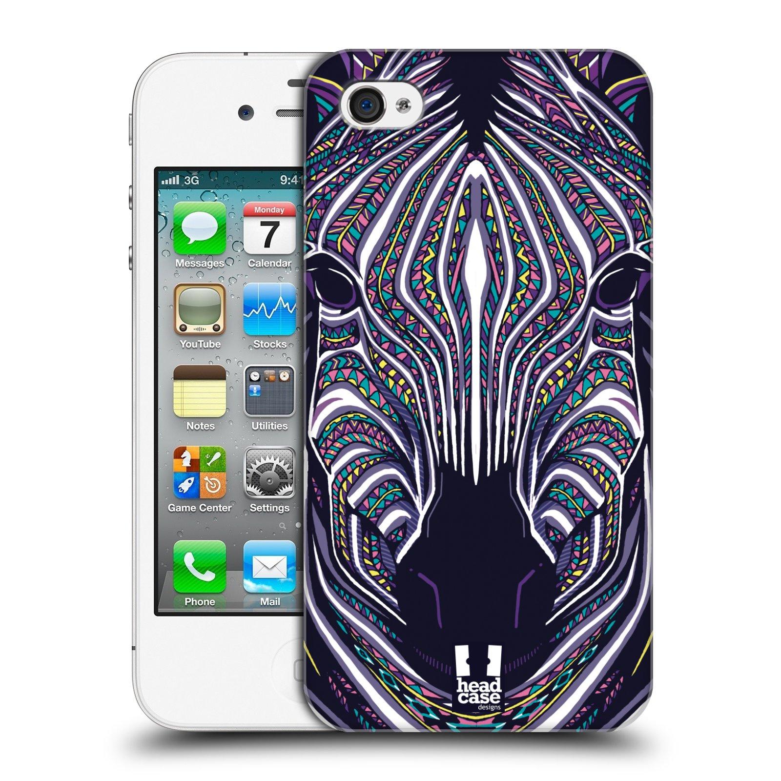 Plastové pouzdro na mobil Apple iPhone 4 a 4S HEAD CASE AZTEC ZEBRA