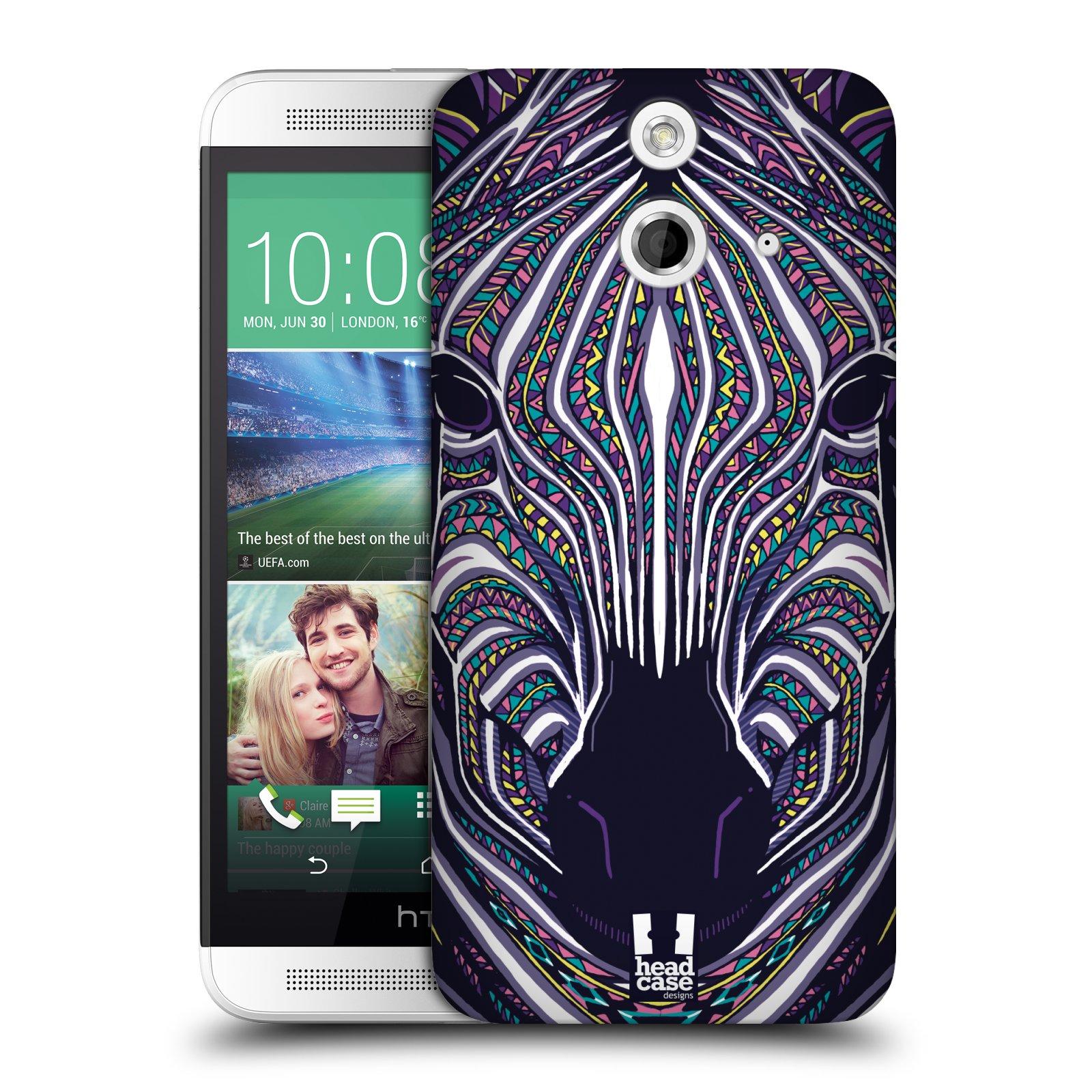 Plastové pouzdro na mobil HTC ONE E8 HEAD CASE AZTEC ZEBRA (Kryt či obal na mobilní telefon HTC ONE E8)