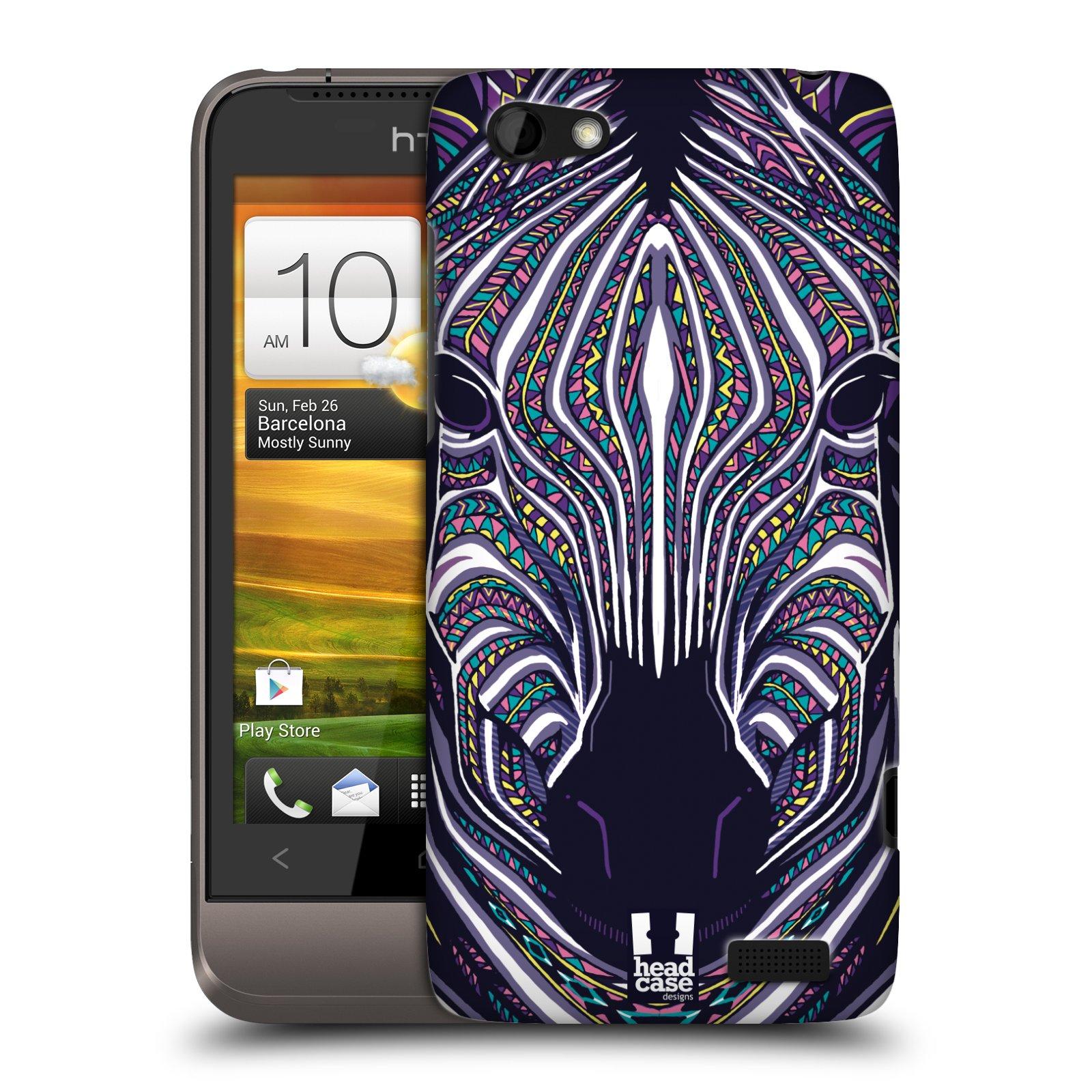 Plastové pouzdro na mobil HTC ONE V HEAD CASE AZTEC ZEBRA (Kryt či obal na mobilní telefon HTC ONE V)