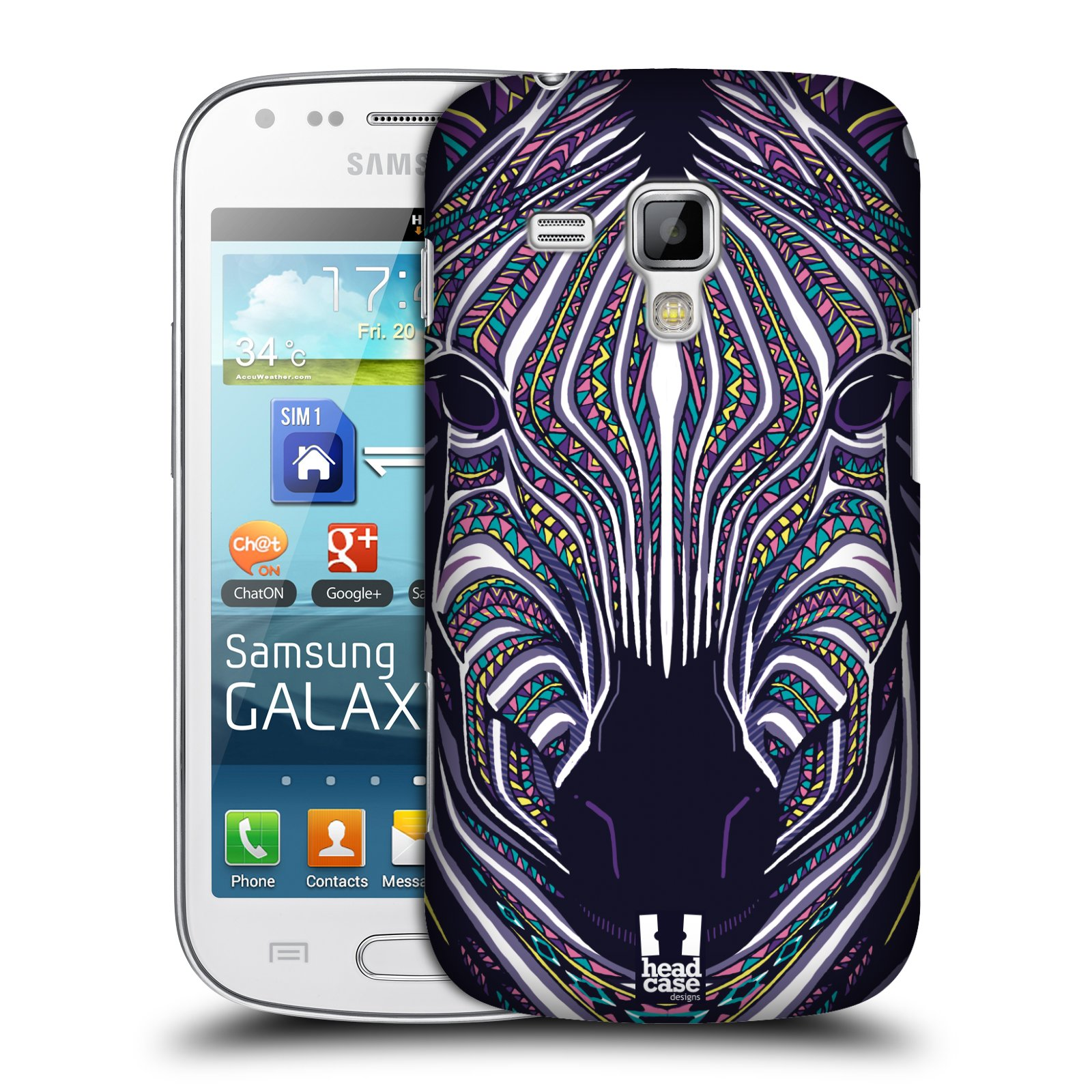 Plastové pouzdro na mobil Samsung Galaxy Trend Plus HEAD CASE AZTEC ZEBRA