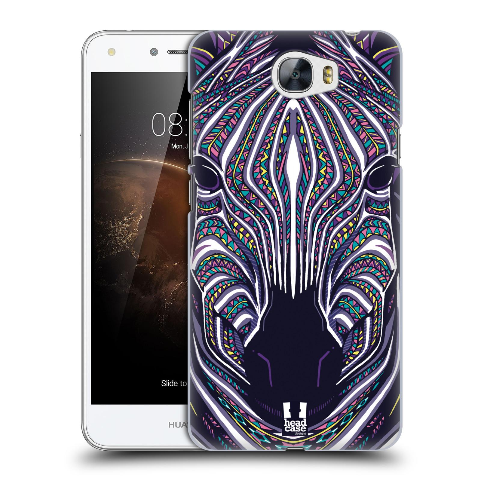 Plastové pouzdro na mobil Huawei Y6 II Compact HEAD CASE AZTEC ZEBRA