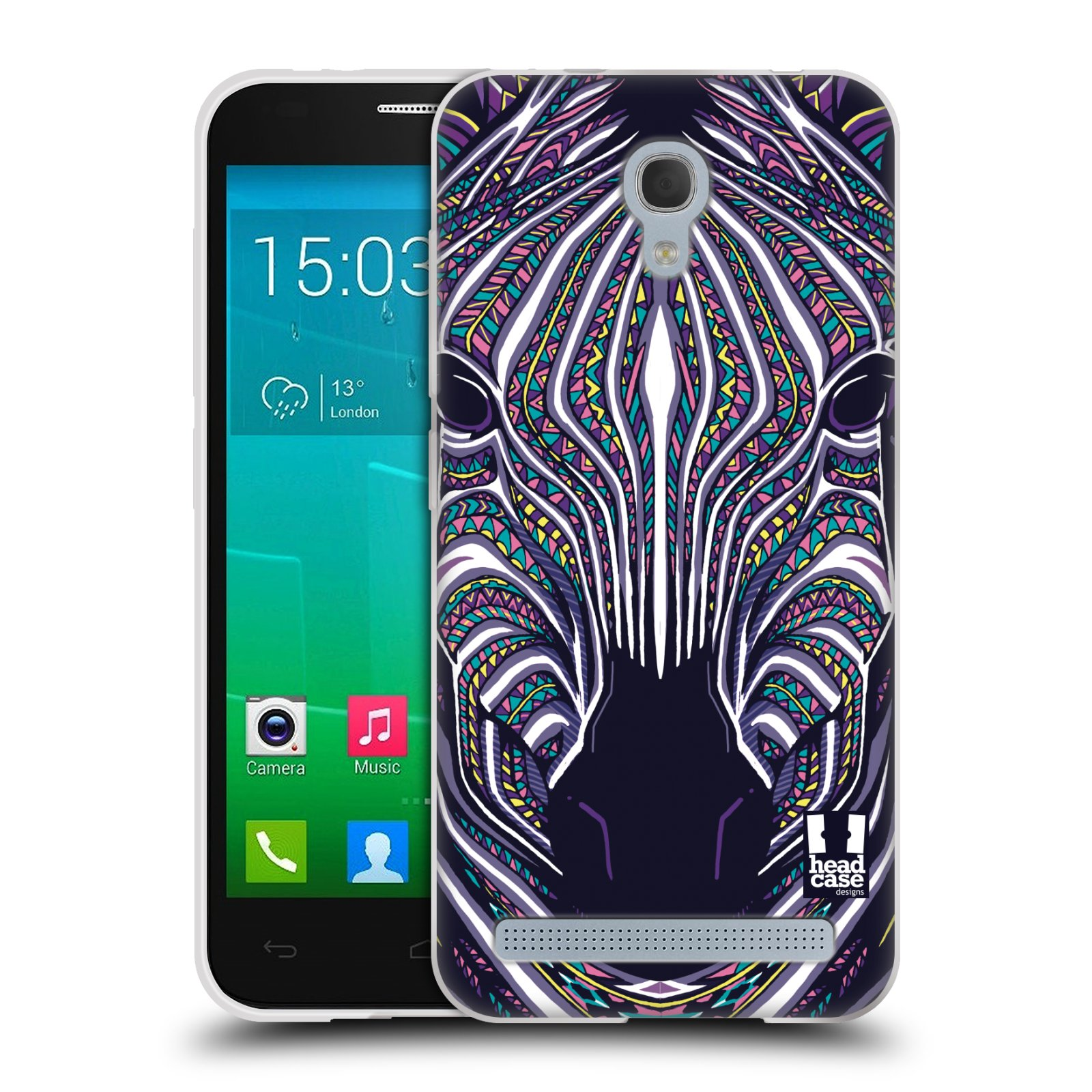 Silikonové pouzdro na mobil Alcatel One Touch Idol 2 Mini S 6036Y HEAD CASE AZTEC ZEBRA