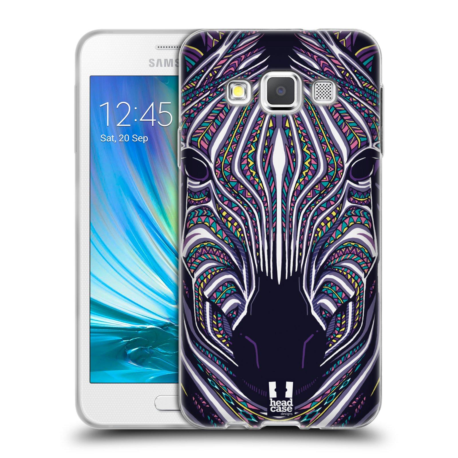 Silikonové pouzdro na mobil Samsung Galaxy A3 HEAD CASE AZTEC ZEBRA